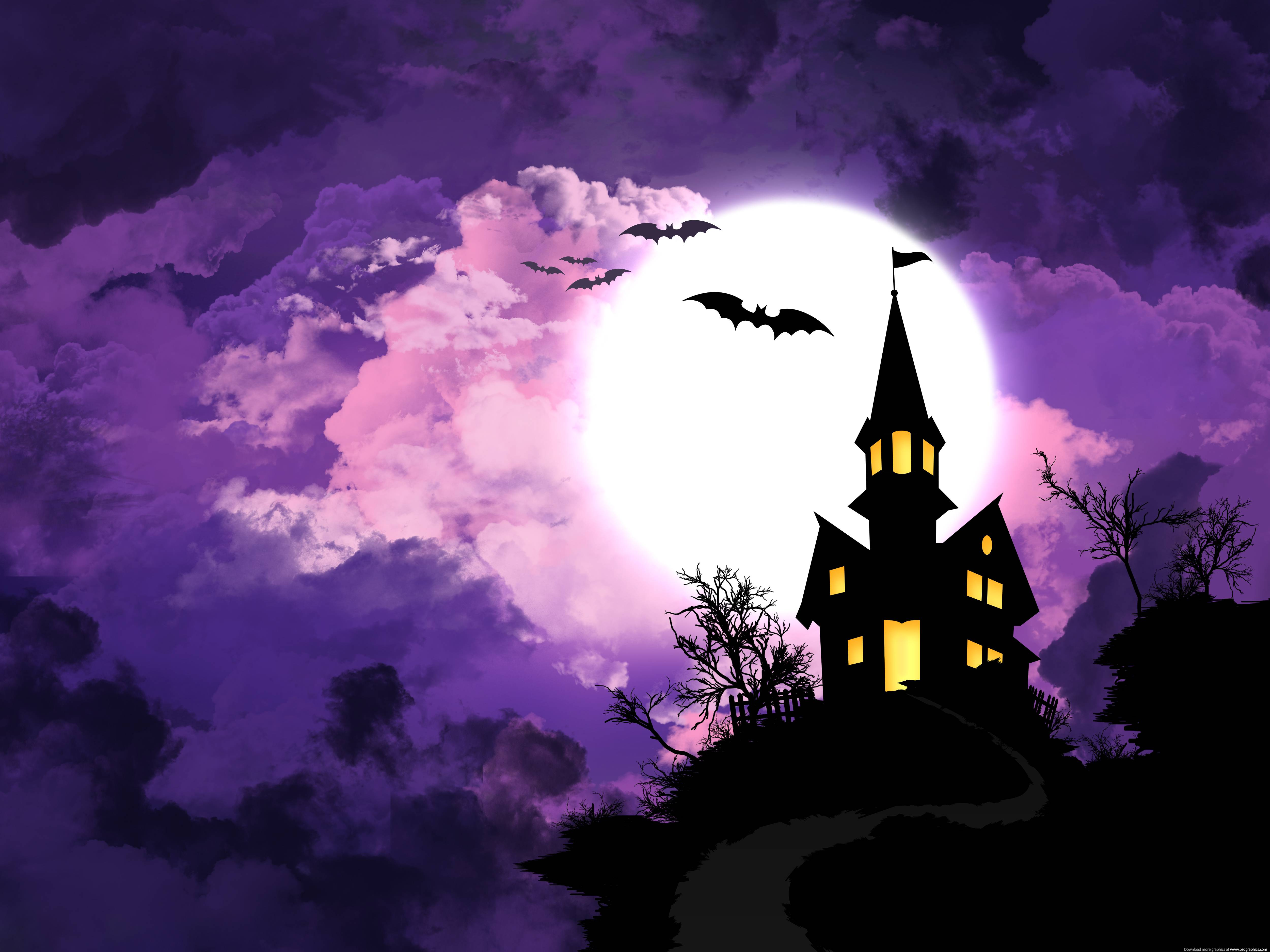 Haunted House Halloween Wallpapers Top Free Haunted House Halloween Backgrounds Wallpaperaccess