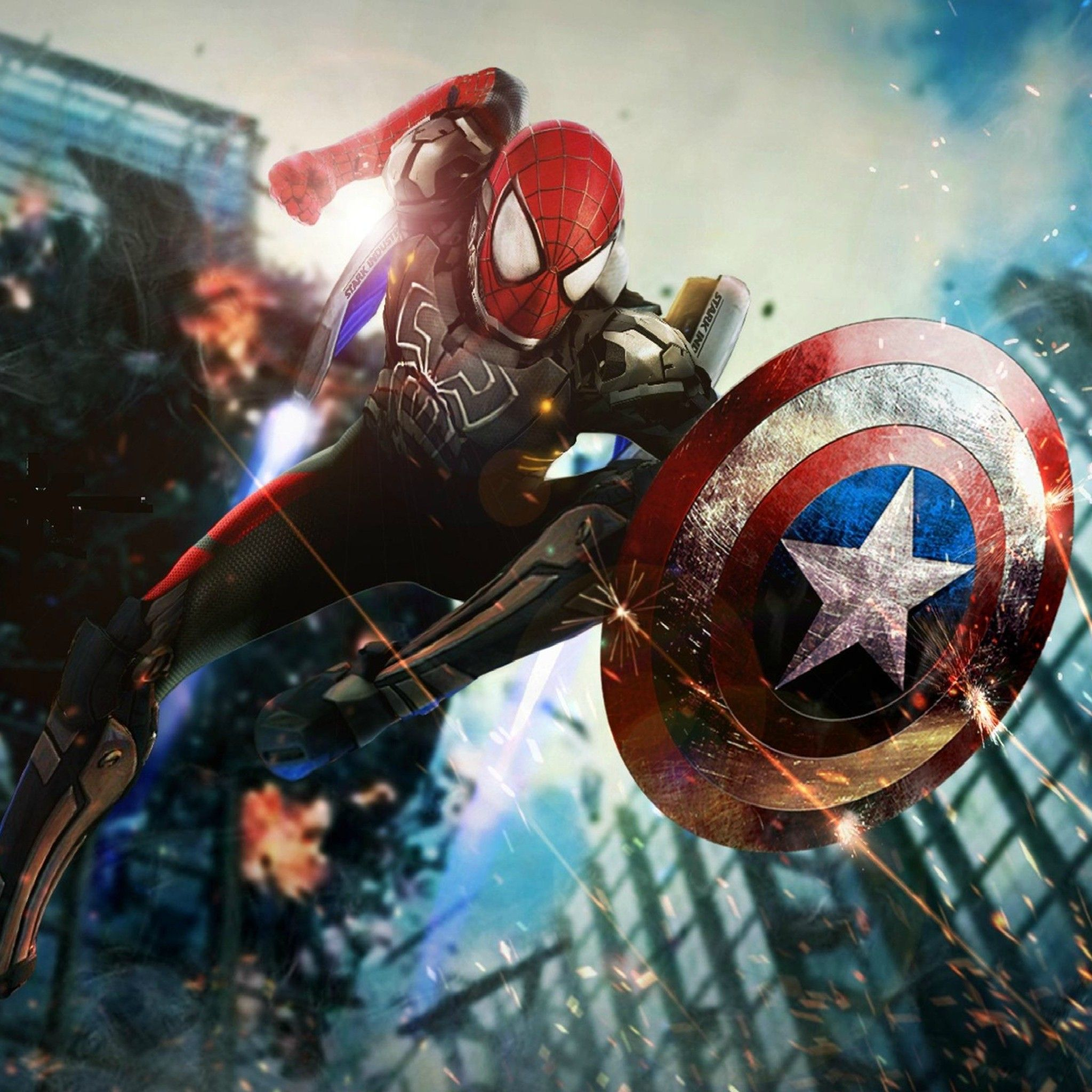 Iron spider man wallpapers top free iron spider man - Iron man spiderman wallpaper ...