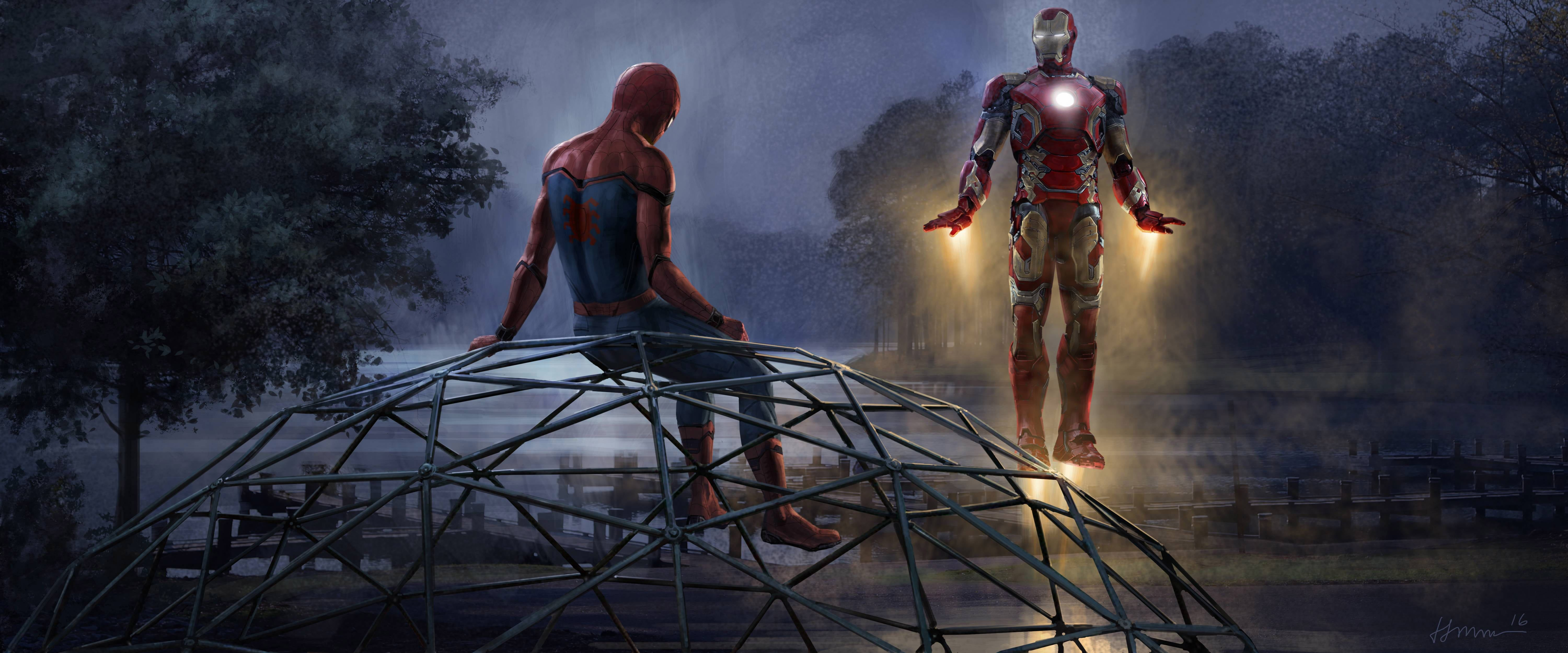 Iron Spider Man Wallpapers Top Free Iron Spider Man Backgrounds