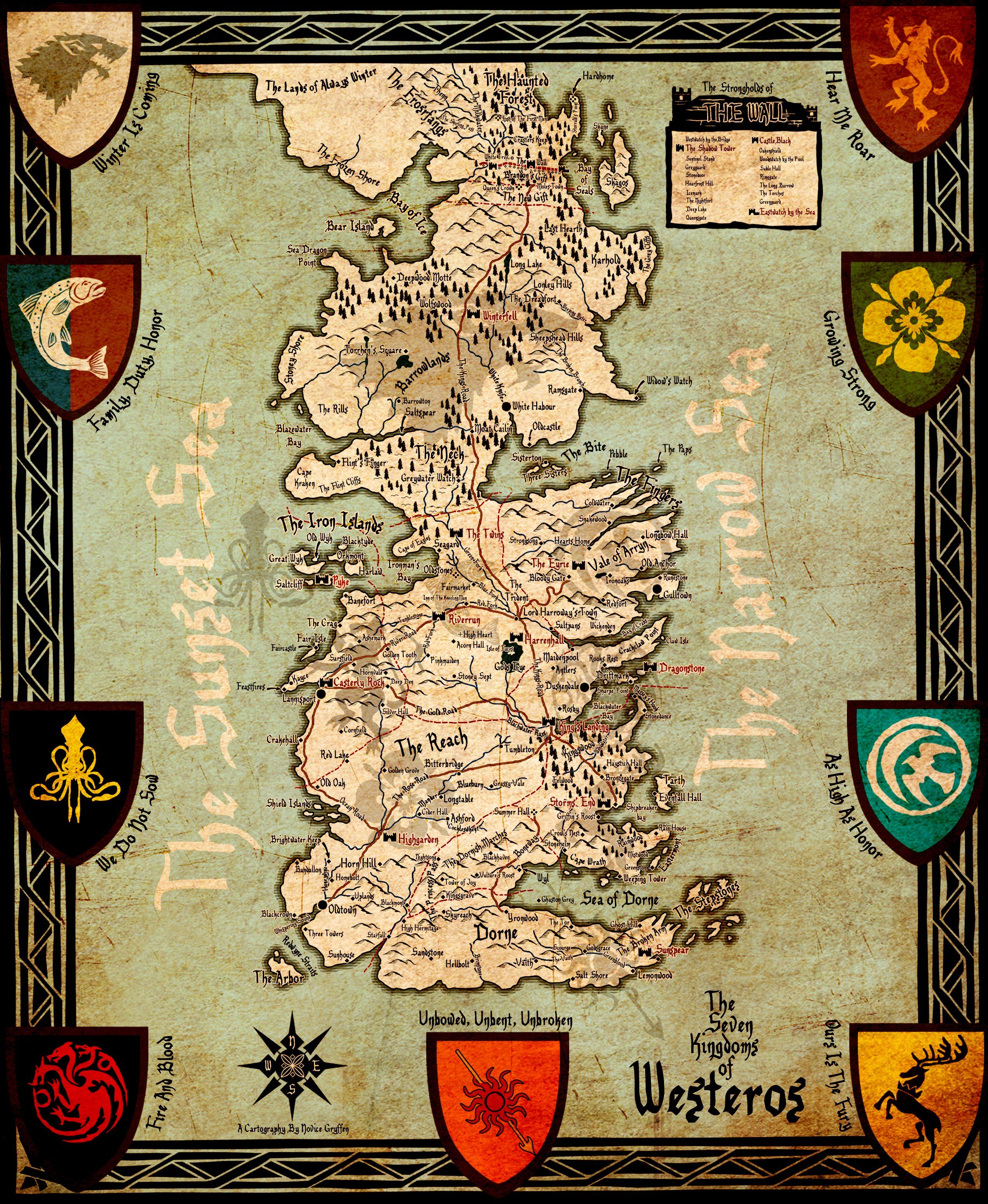 Game Of Thrones Map Wallpapers Top Free Game Of Thrones Map