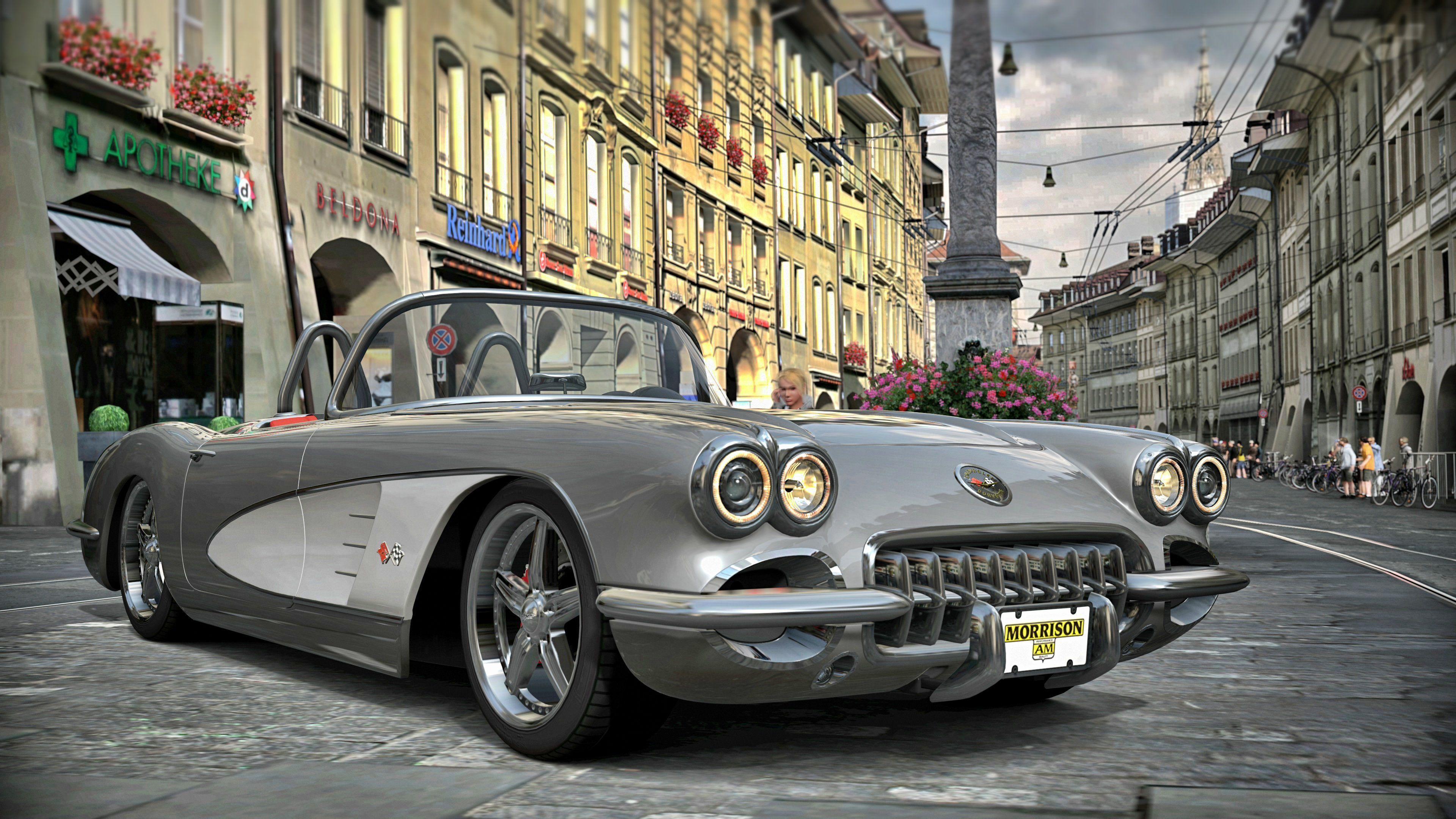 Old Music Score 4k Hd Desktop Wallpaper For 4k Ultra Hd Tv: 62 Best Free Vintage Corvette Wallpapers
