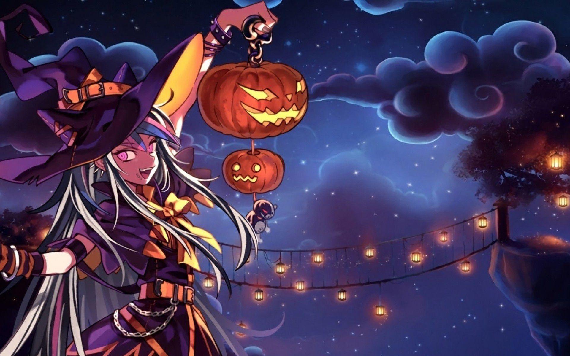 Cute Halloween Anime Wallpapers Top Free Cute Halloween
