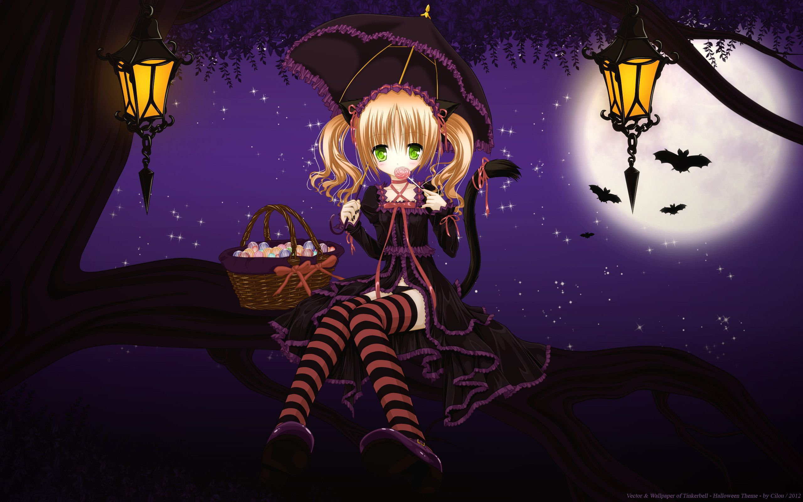 Cute Halloween Anime Wallpapers Top Free Cute Halloween Anime Backgrounds Wallpaperaccess