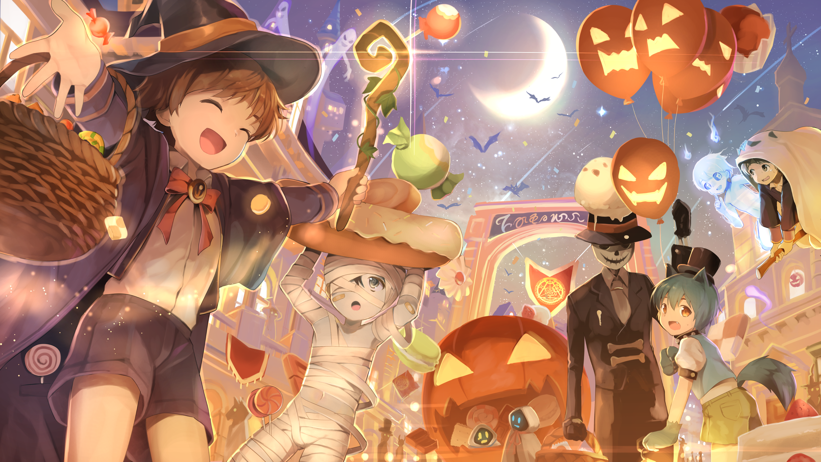 Anime Halloween Wallpapers Top Free Anime Halloween Backgrounds Wallpaperaccess