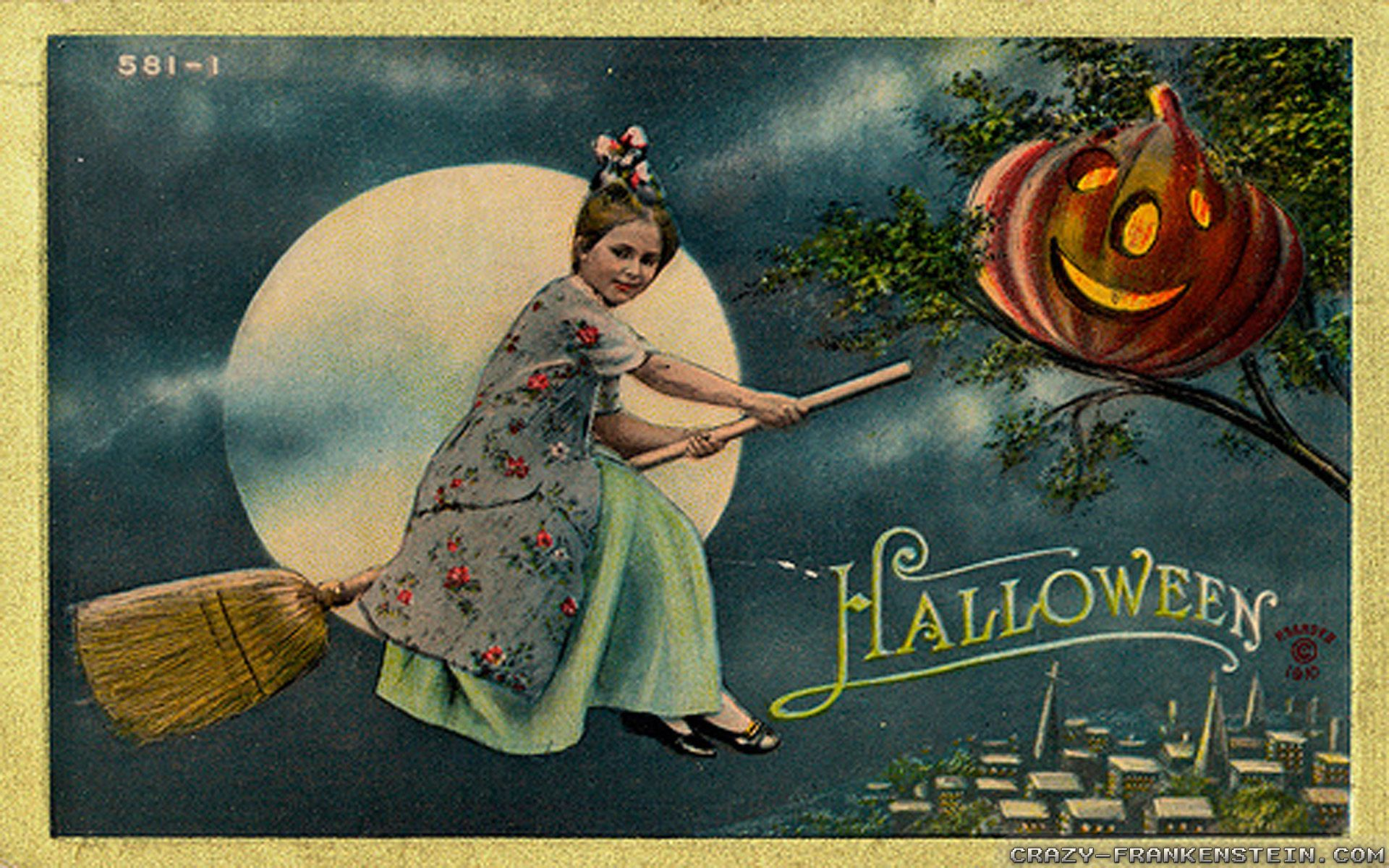 Vintage Halloween Witch Wallpapers - Top Free Vintage ...