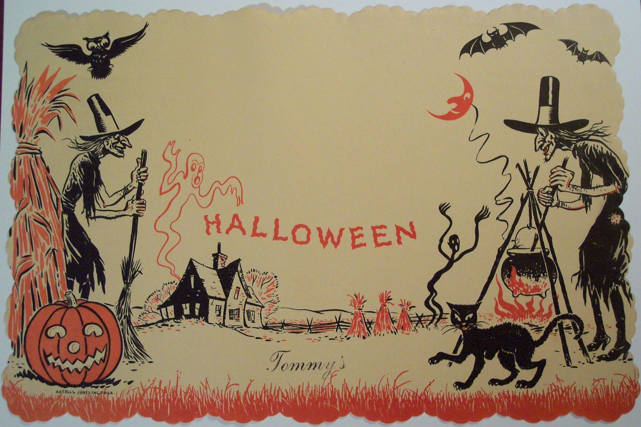 Vintage Halloween Wallpapers Top Free Vintage Halloween Backgrounds Wallpaperaccess