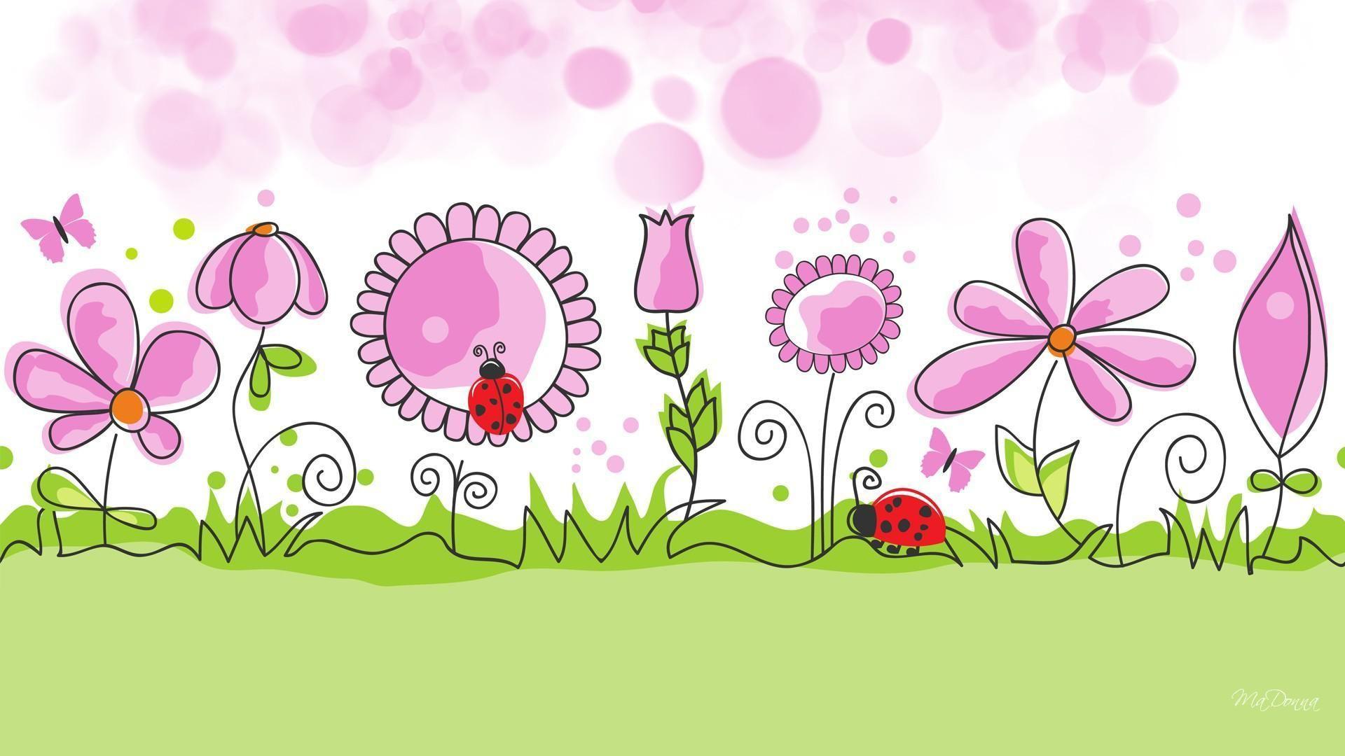 Cartoon Flower Desktop Wallpapers Top Free Cartoon Flower Desktop Backgrounds Wallpaperaccess