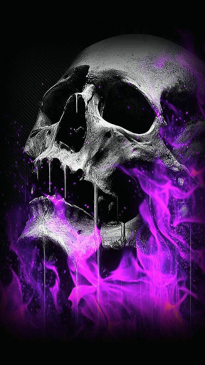 purple skull wallpapers top free