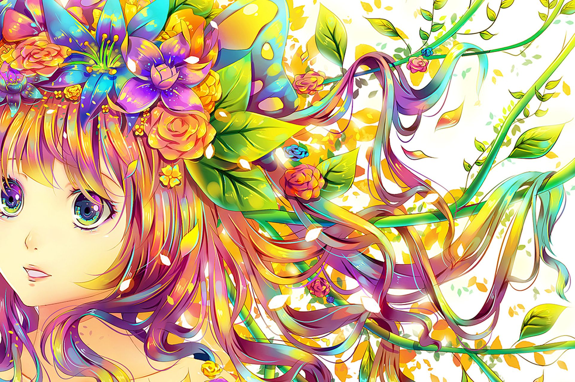 Rainbow Anime Wallpapers Top Free Rainbow Anime Backgrounds Wallpaperaccess