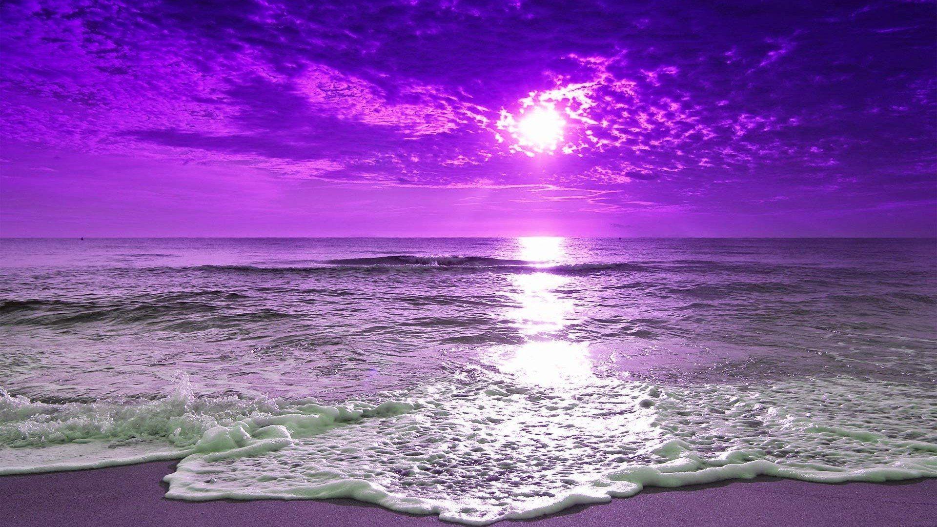 Purple Beach Wallpapers Top Free Purple Beach Backgrounds Wallpaperaccess