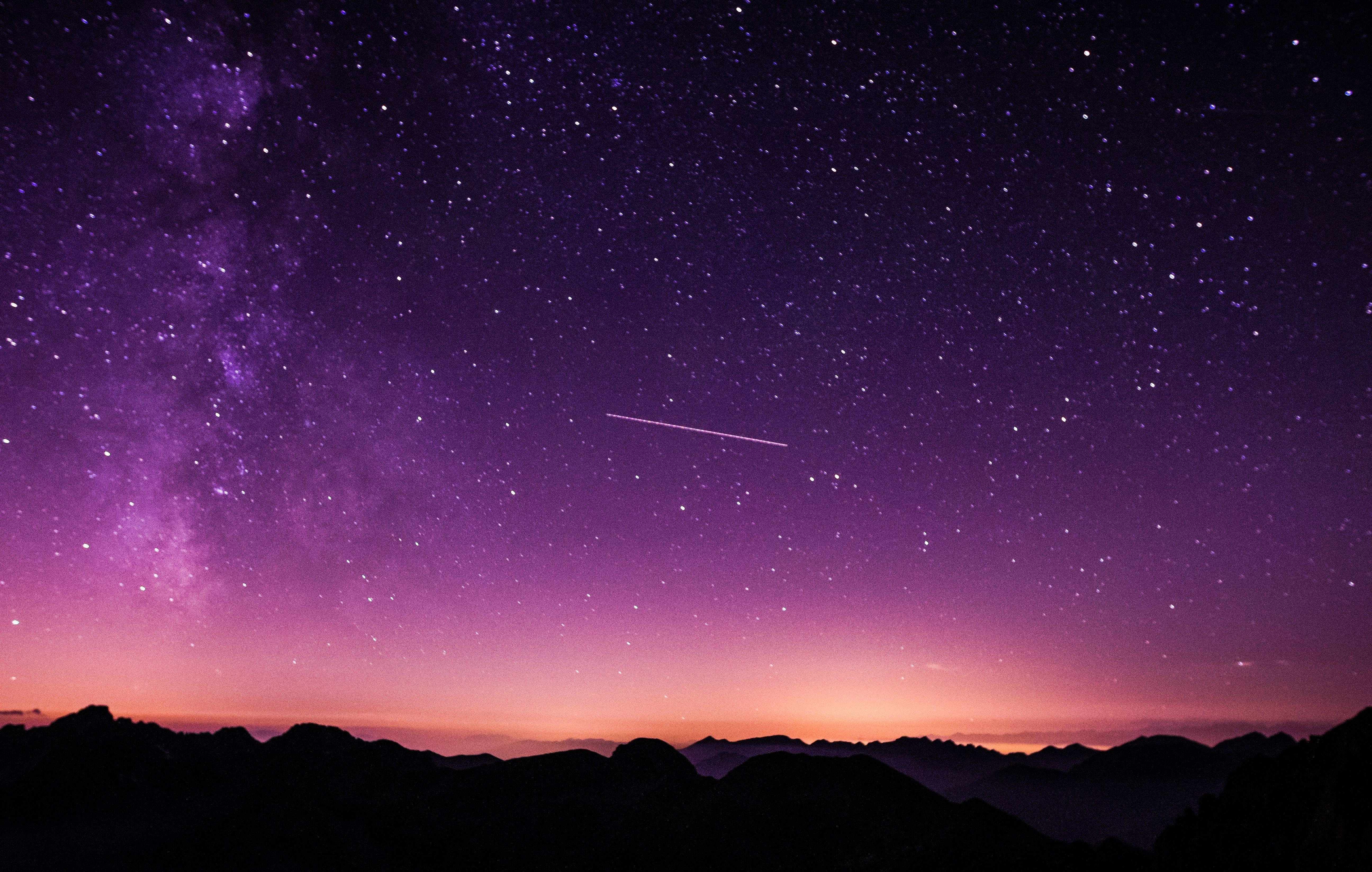 Purple Night Sky Wallpapers Top Free Purple Night Sky Backgrounds Wallpaperaccess