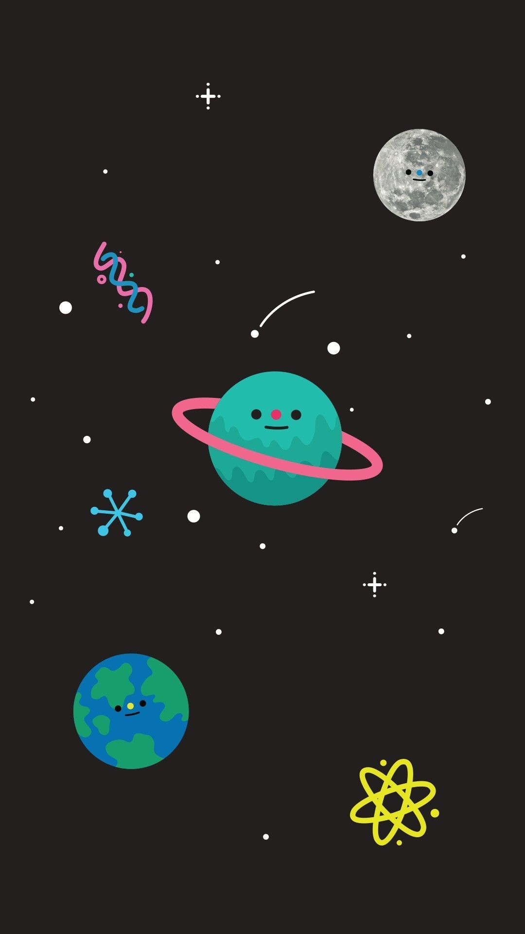 Cute Space Phone Wallpapers Top Free Cute Space Phone Backgrounds Wallpaperaccess