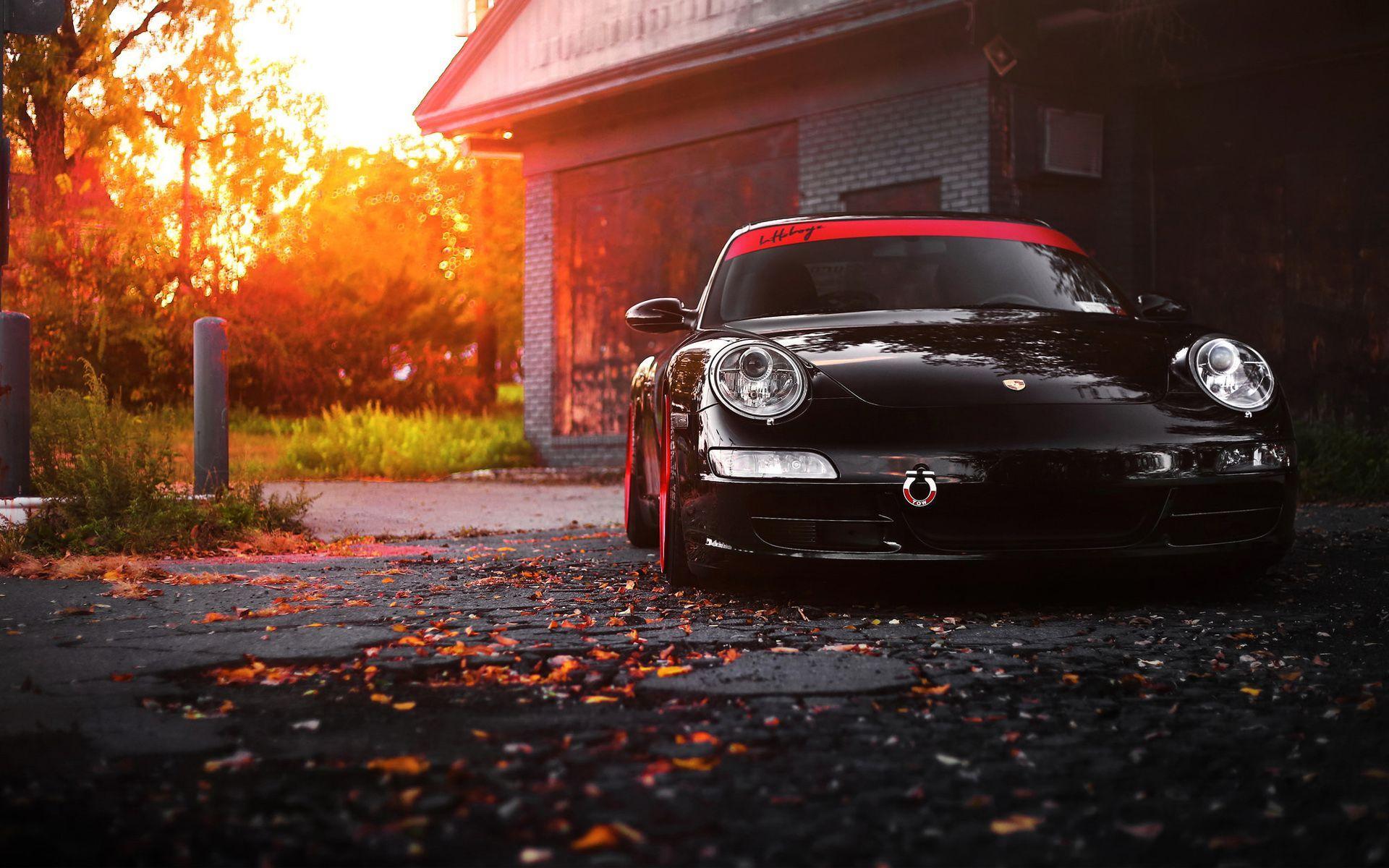 Black Porsche Wallpapers Top Free Black Porsche Backgrounds Wallpaperaccess