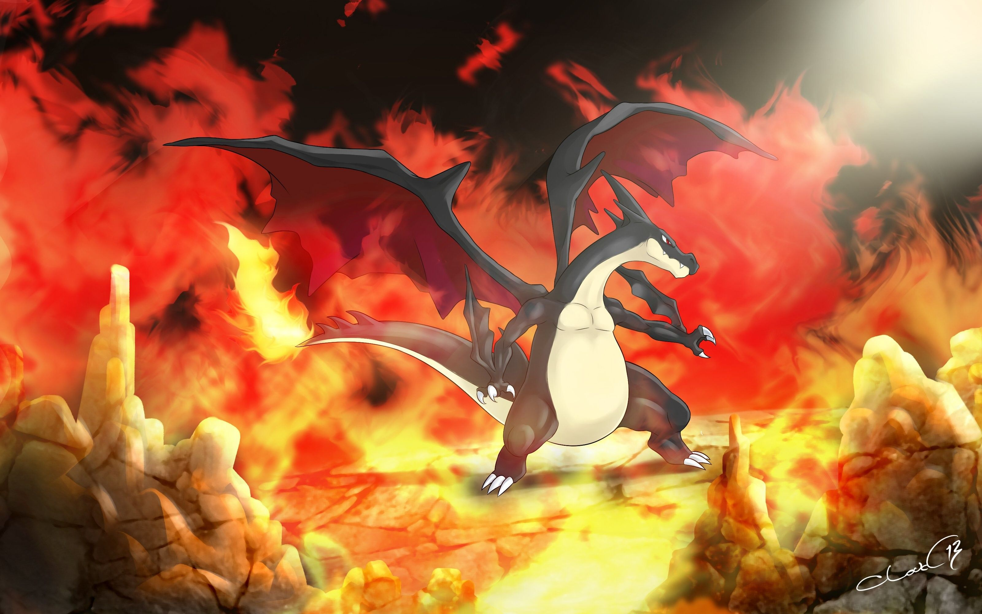 Mega Charizard Y Wallpapers Top Free Mega Charizard Y Backgrounds Wallpaperaccess
