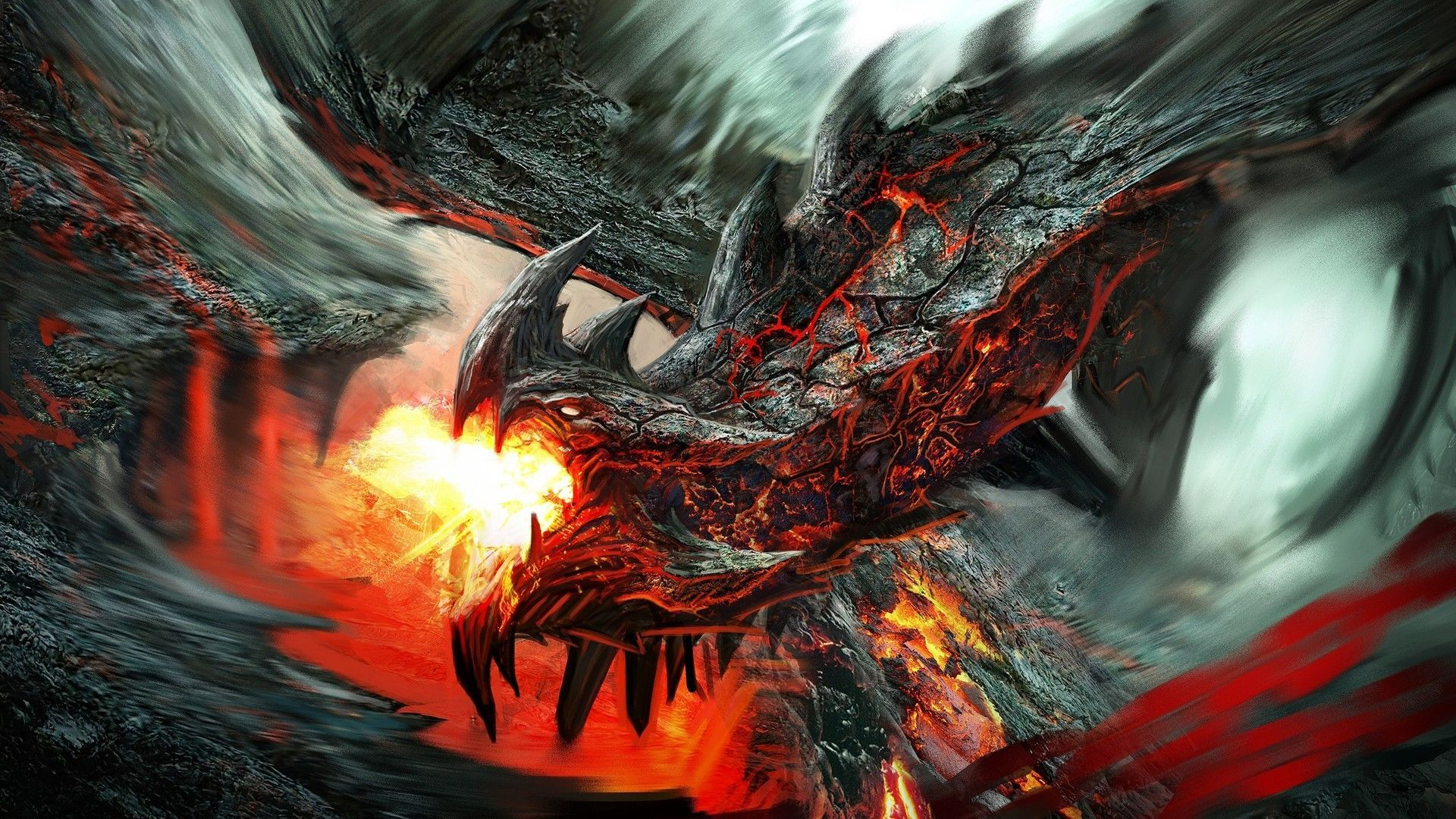38 Best Free Lava Dragon Wallpapers