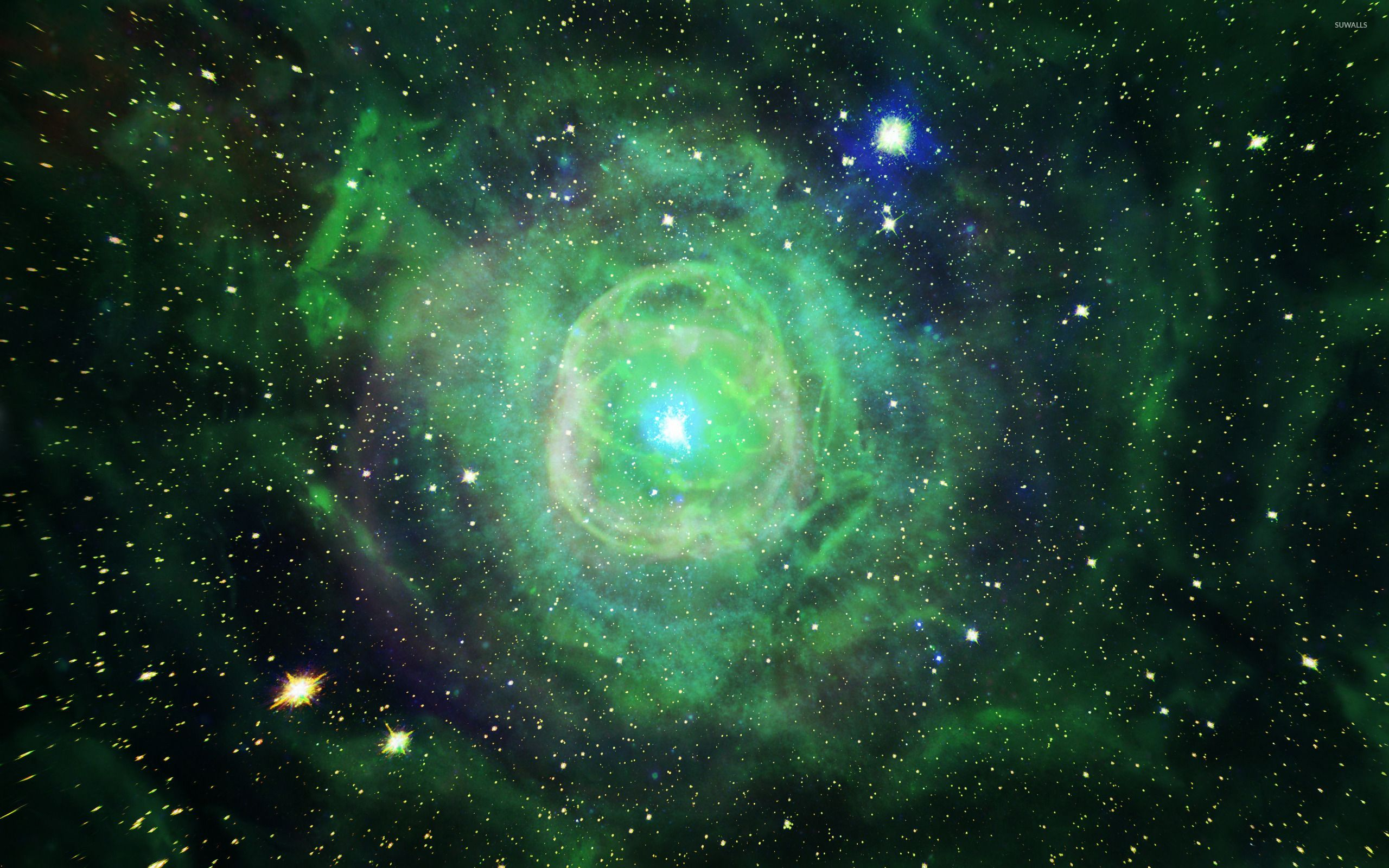 Green Nebula Wallpapers Top Free Green Nebula Backgrounds Wallpaperaccess