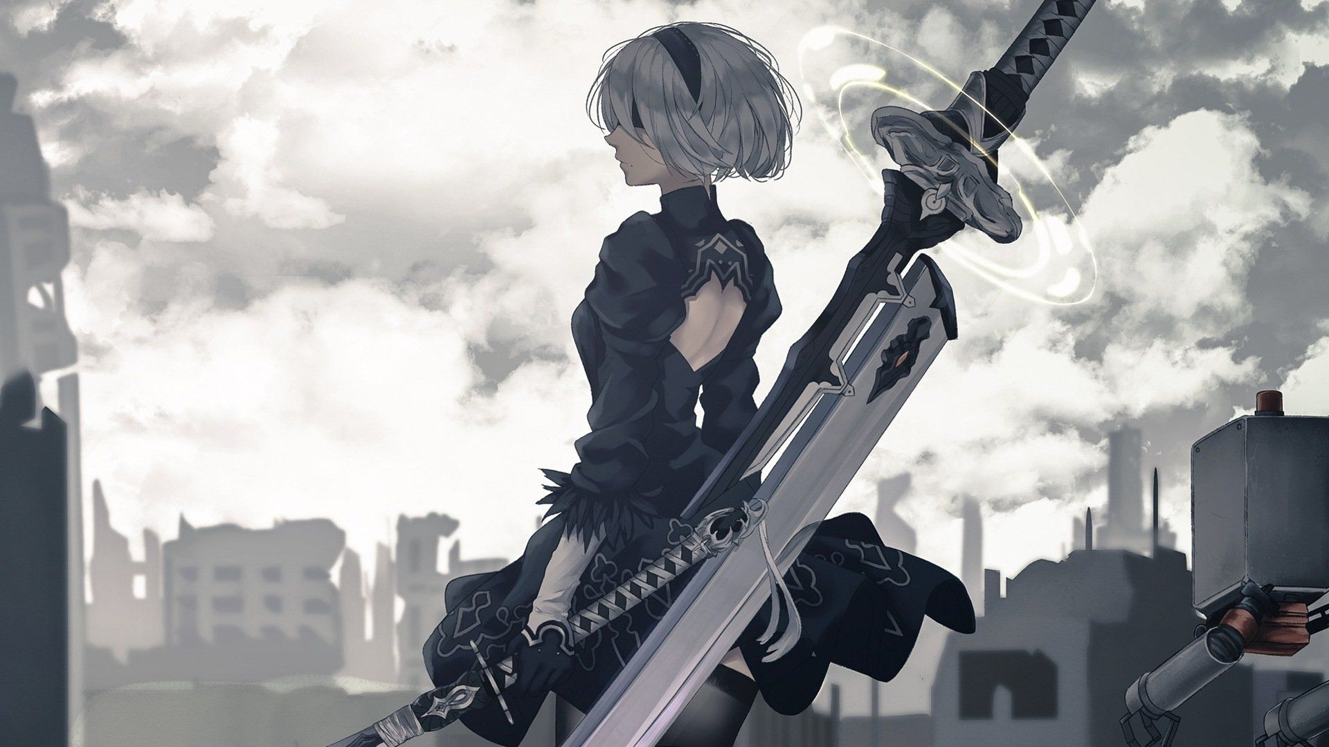 Nier Automata Wallpapers Top Free Nier Automata Backgrounds Wallpaperaccess