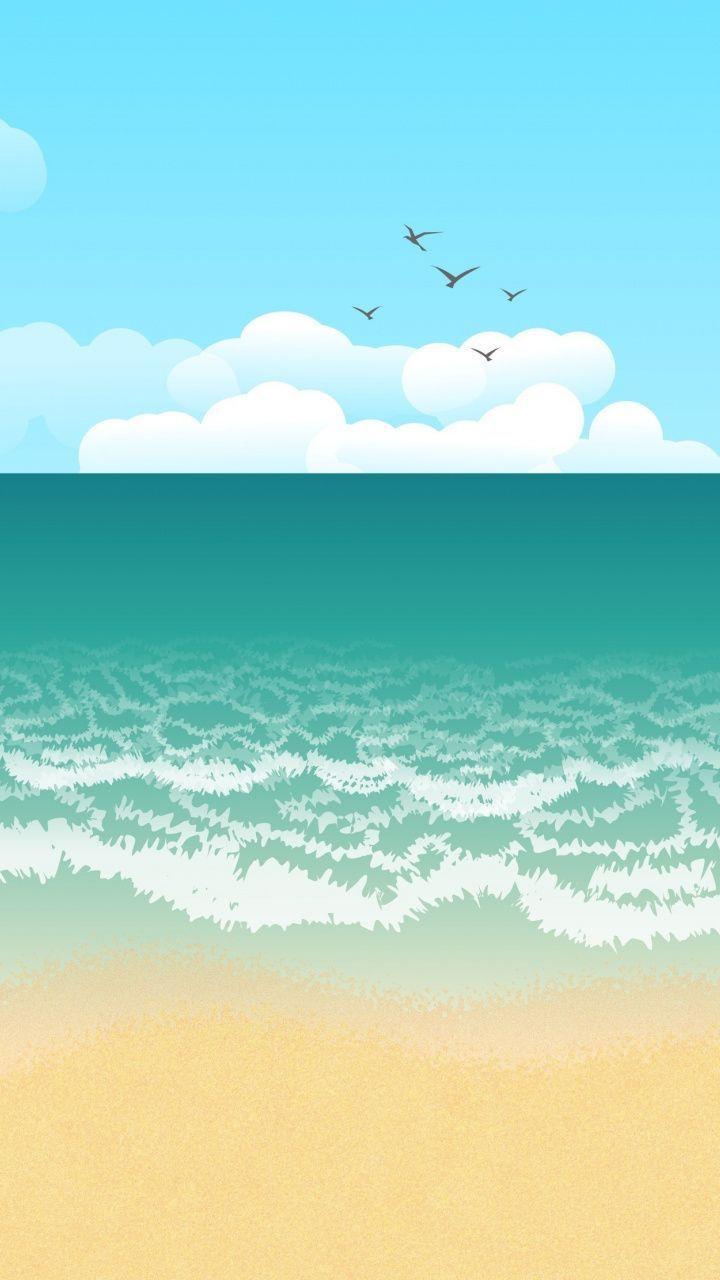Minimalist Beach Wallpapers Top Free Minimalist Beach