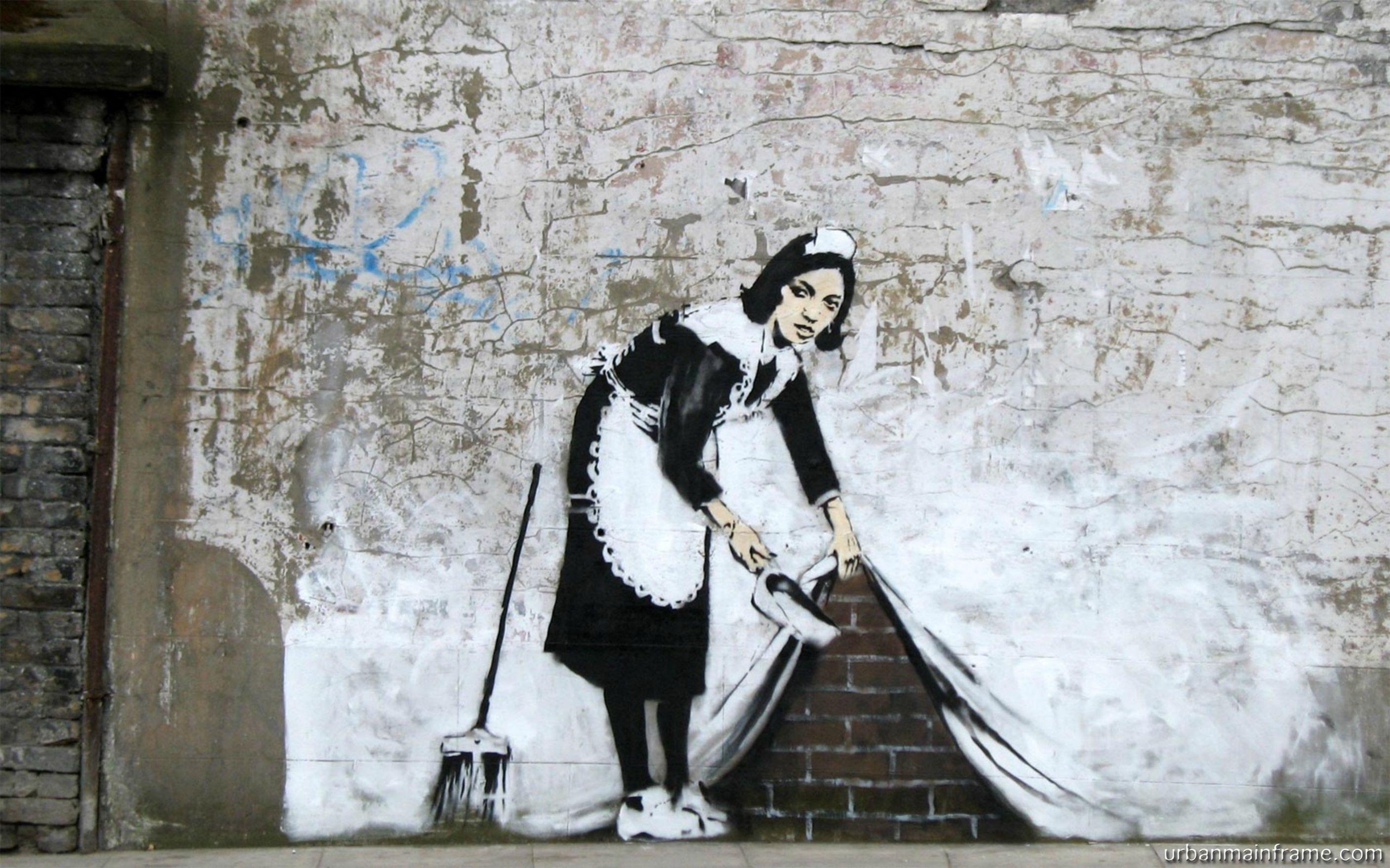 Tapete Vlies Papier Fototapete Banksy Anarchie Grafitti Street Art Straßenkunst