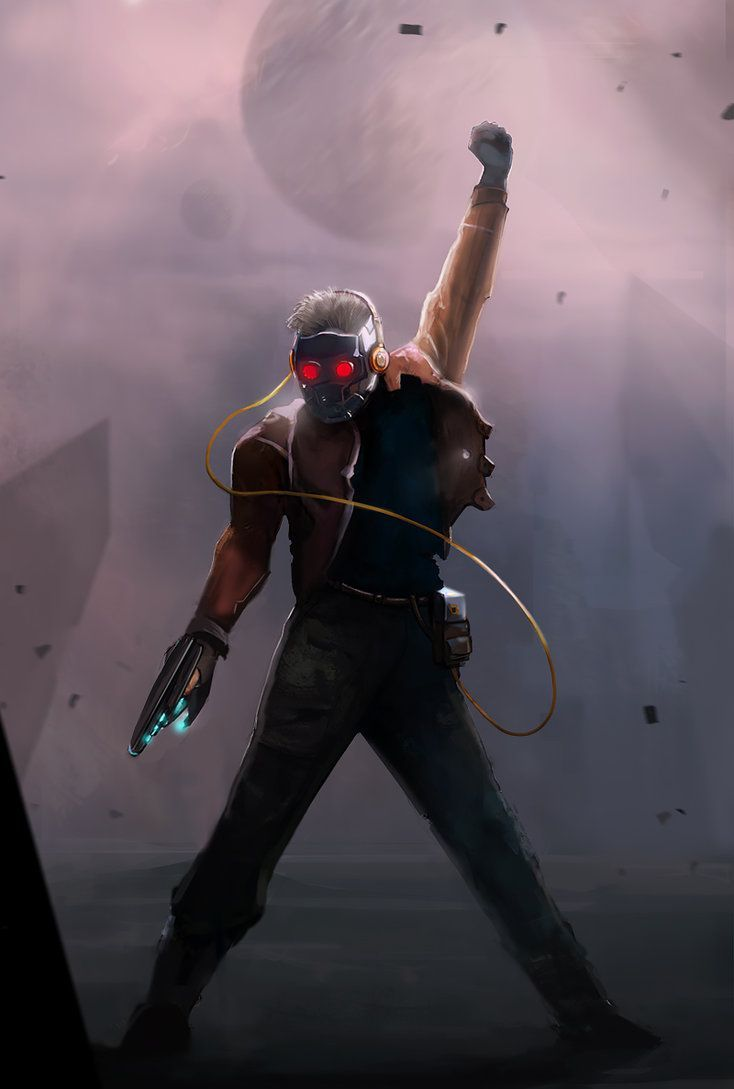 Abstract Art Star Lord