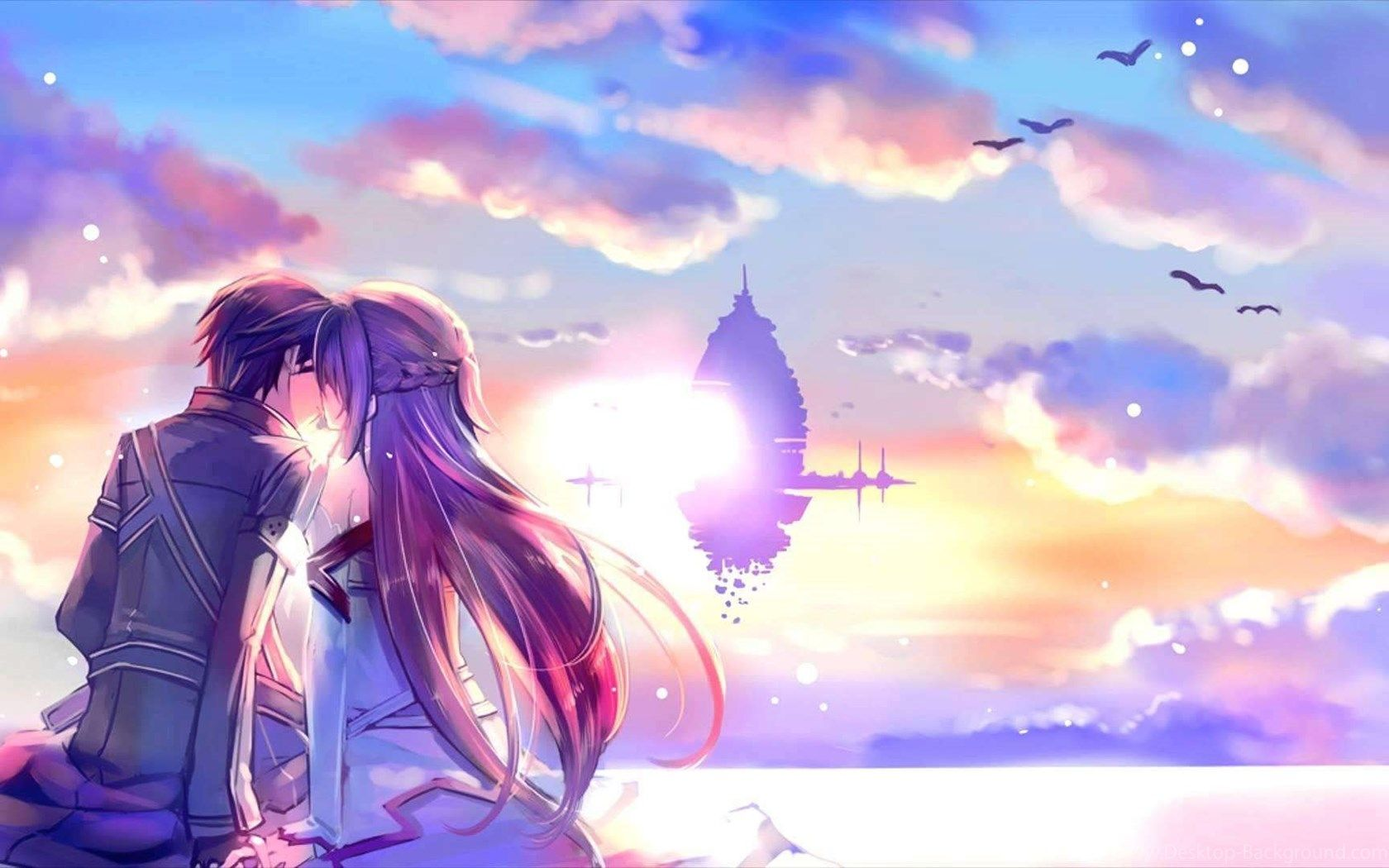 Hd Desktop Backgrounds 1680x1050: Anime Love Desktop Wallpapers