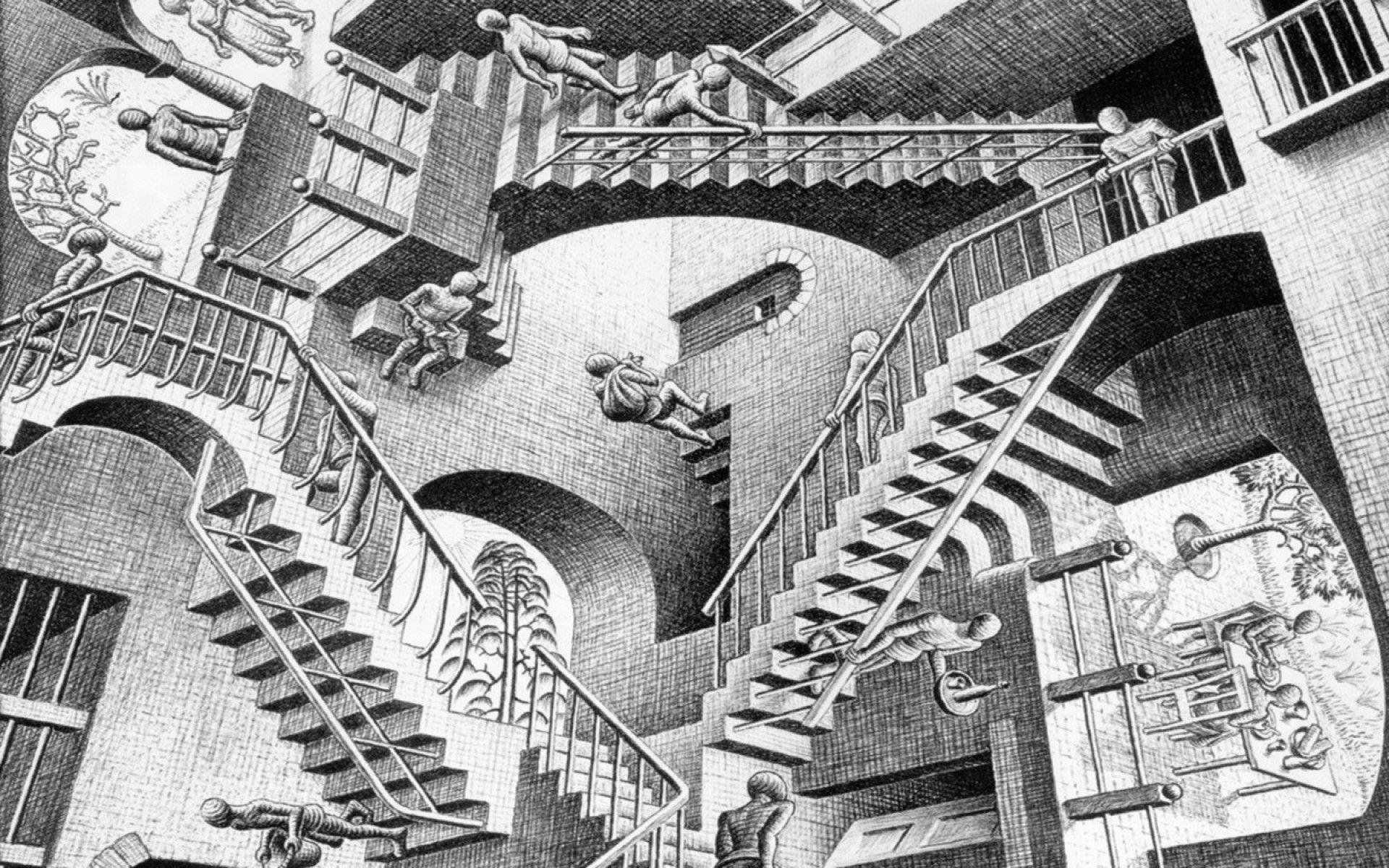 Escher Wallpapers Top Free Escher Backgrounds Wallpaperaccess