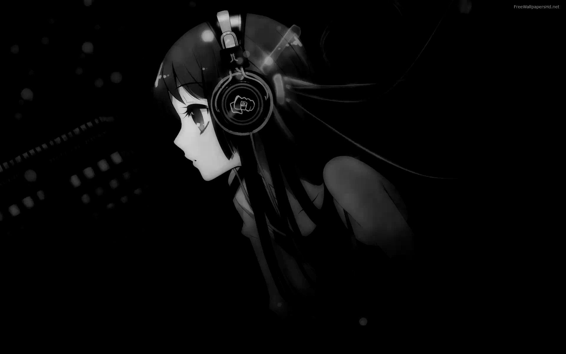 Black And White Anime Girl Wallpapers Top Free Black And White