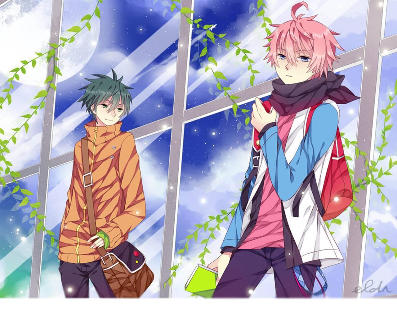 1280x1024 Hình nền Anime Boy Dễ thương