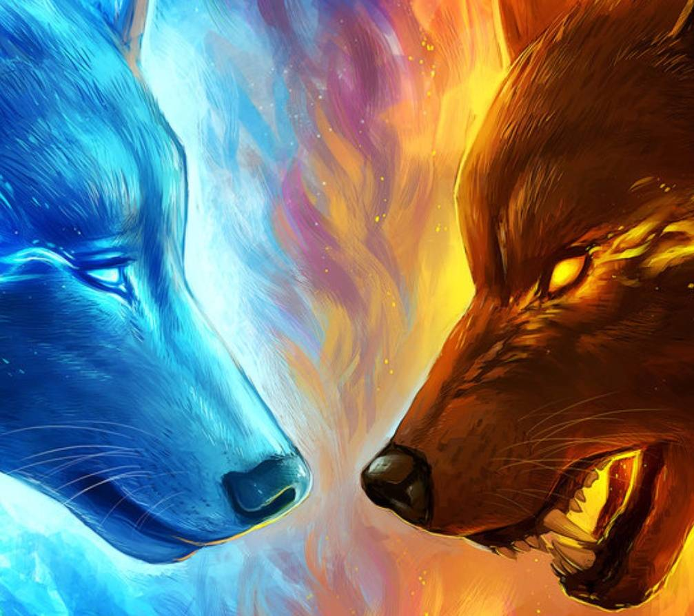 Fire and Ice Wolf Wallpapers - Top Free