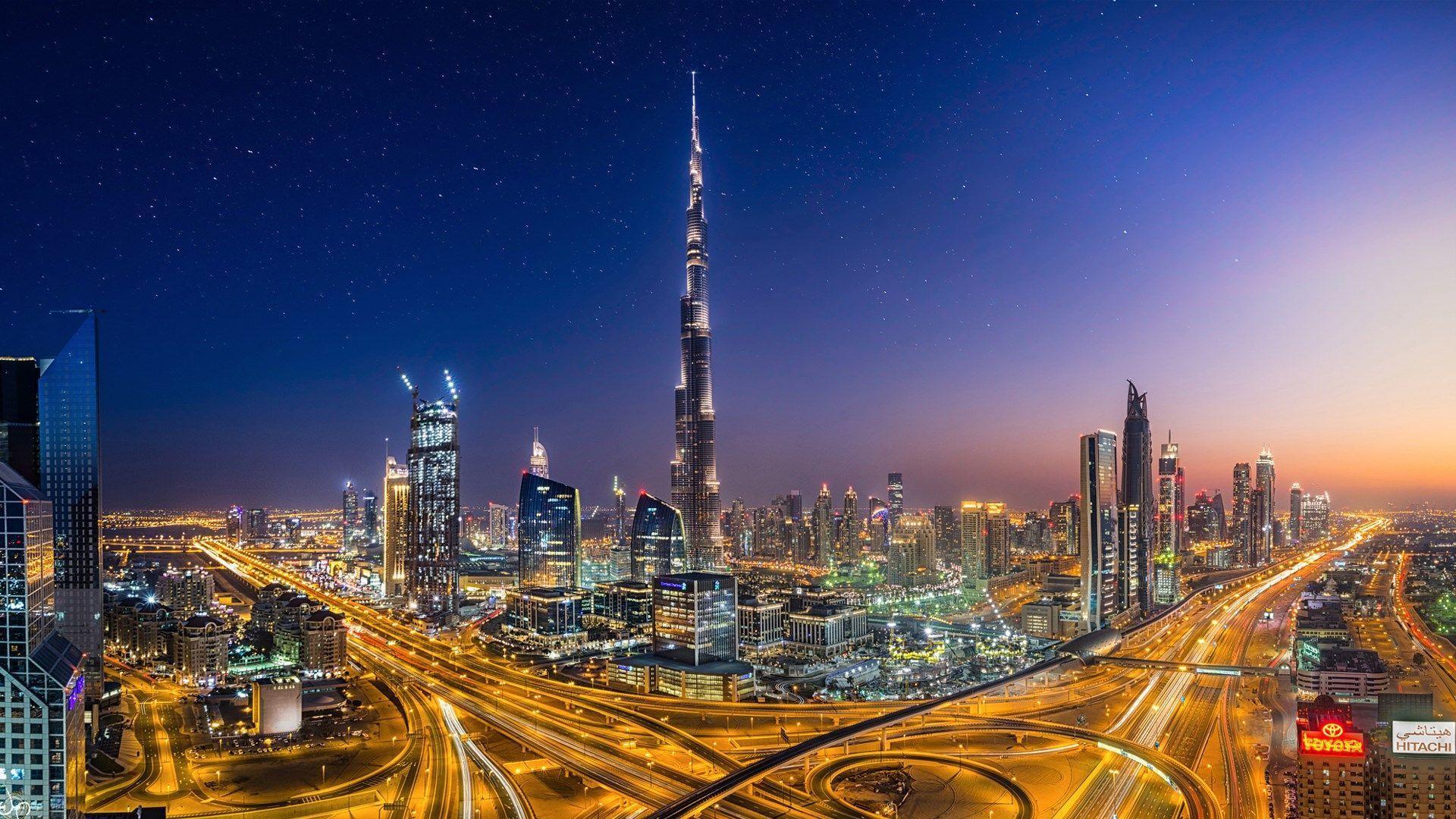 Dubai Night Skyline Wallpapers Top Free Dubai Night