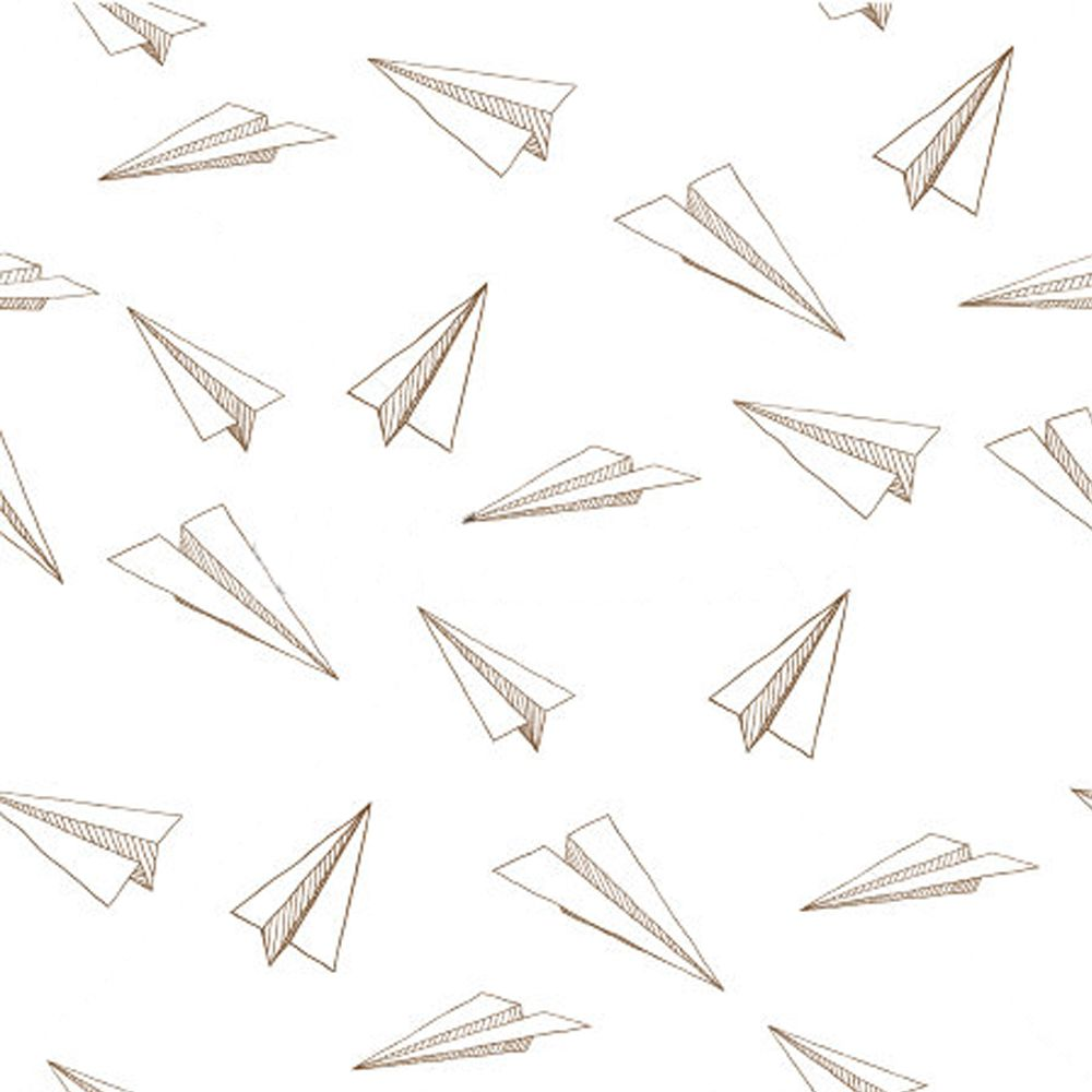 paper airplane drawing aesthetic