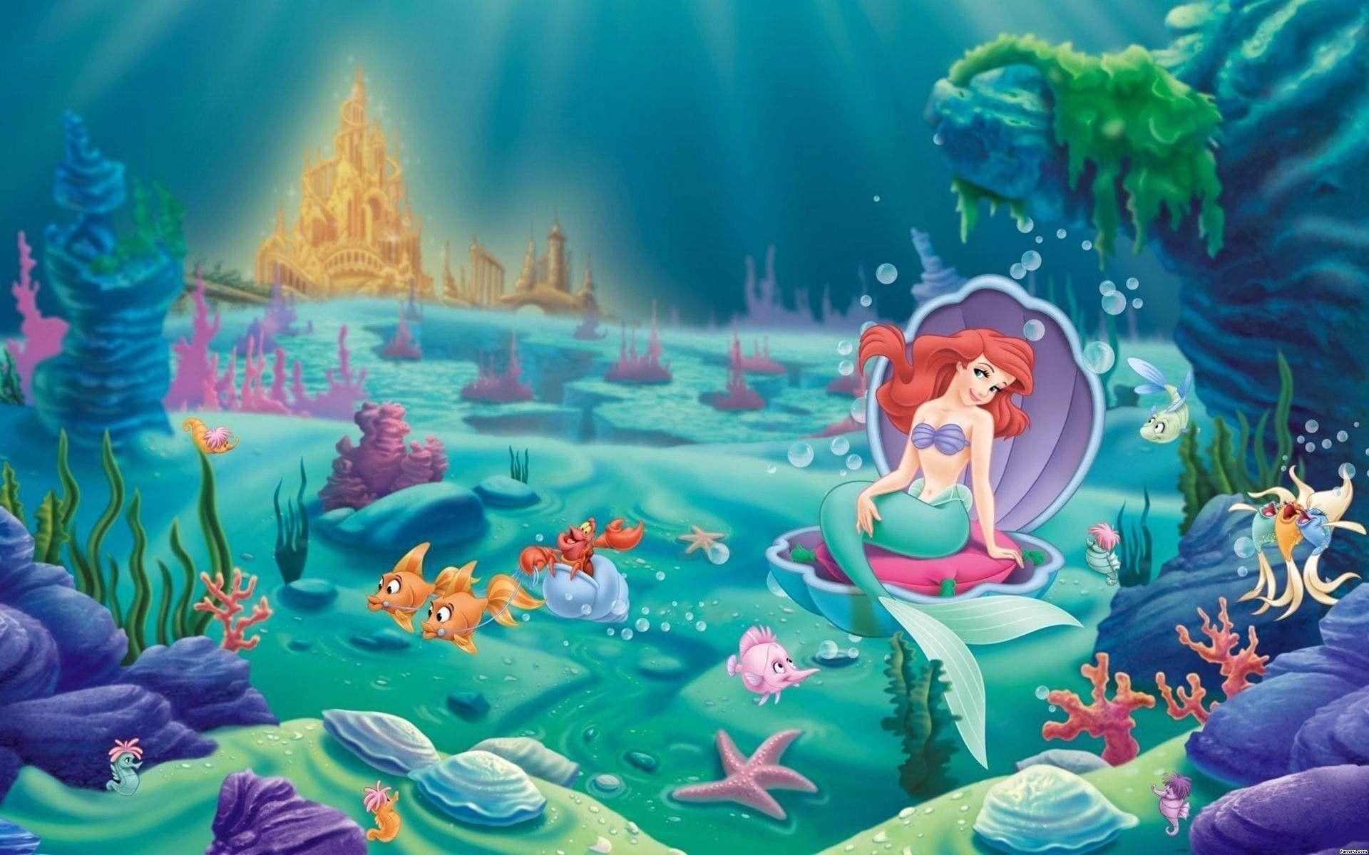 Little Mermaid Wallpapers Top Free Little Mermaid Backgrounds Wallpaperaccess