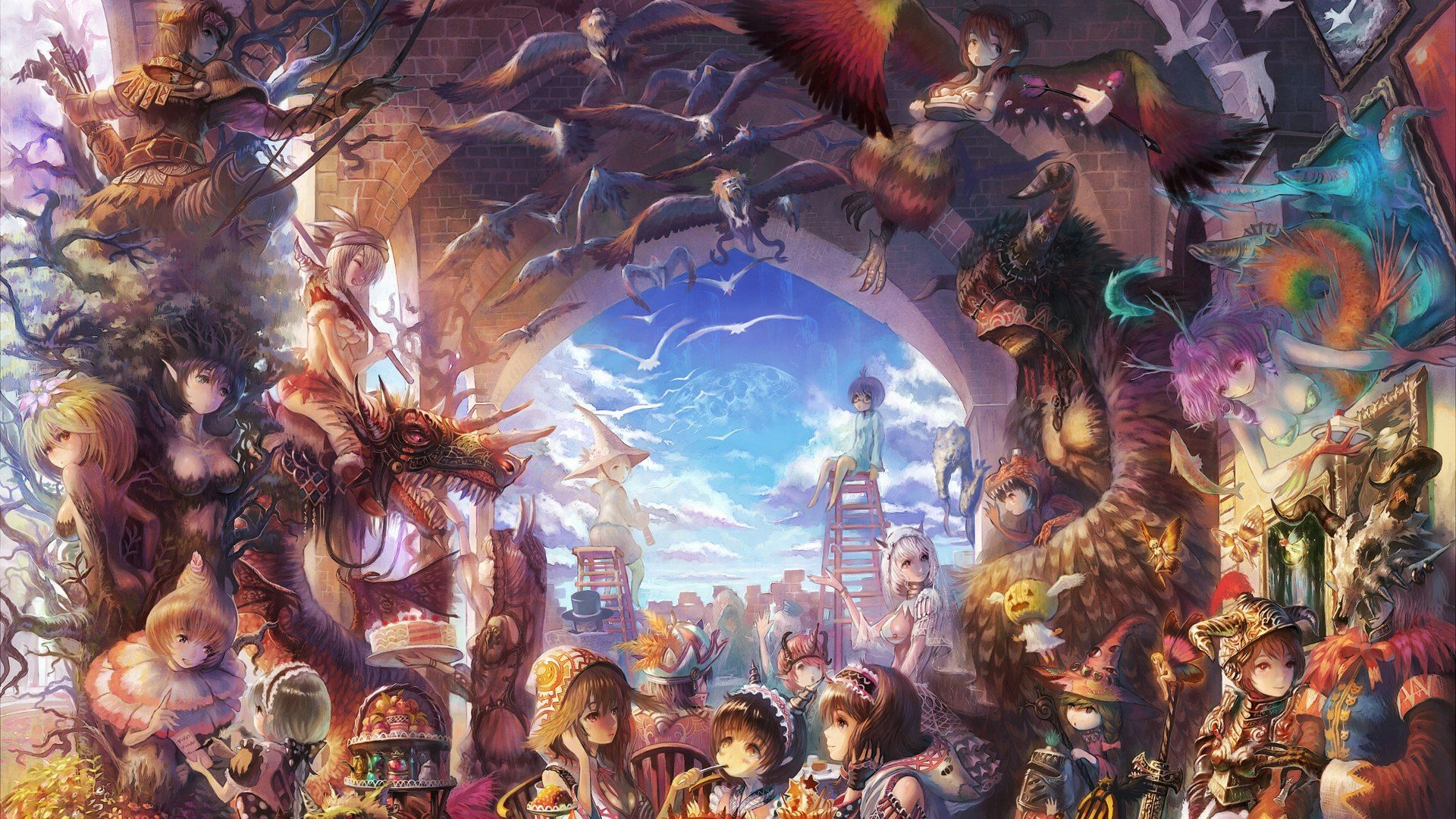 Anime Art Desktop Wallpapers Top Free Anime Art Desktop