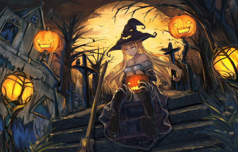 Anime Halloween Pumpkin Wallpapers Top Free Anime Halloween Pumpkin Backgrounds Wallpaperaccess