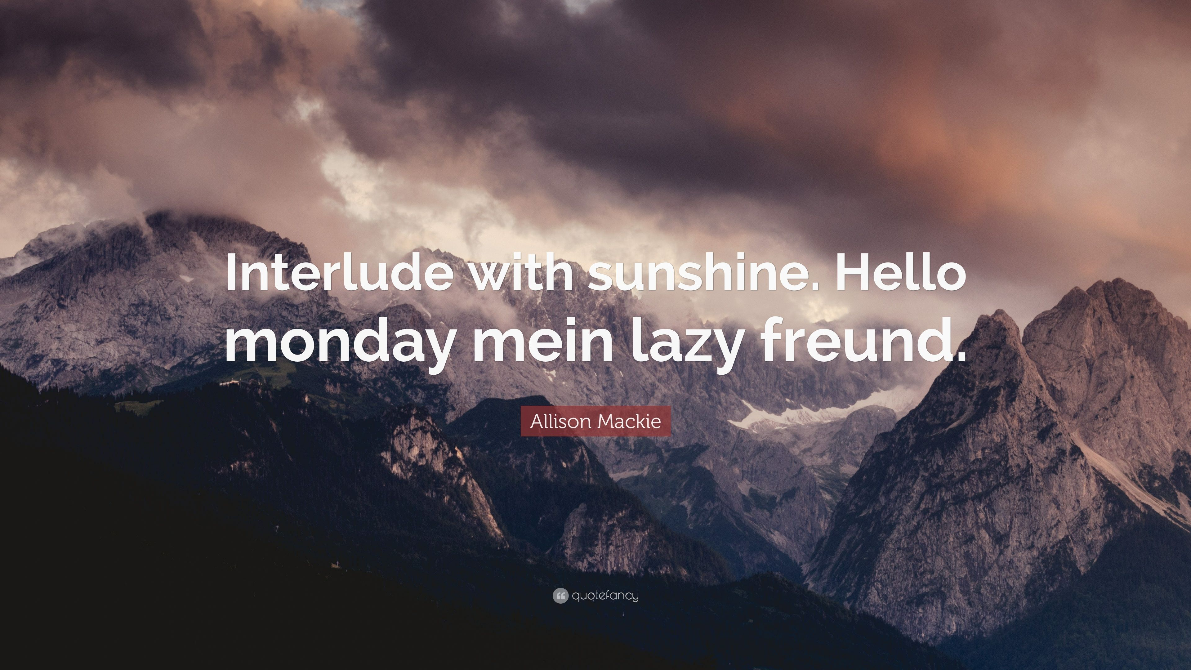 Allison Mackie hello monday wallpapers - top free hello monday backgrounds