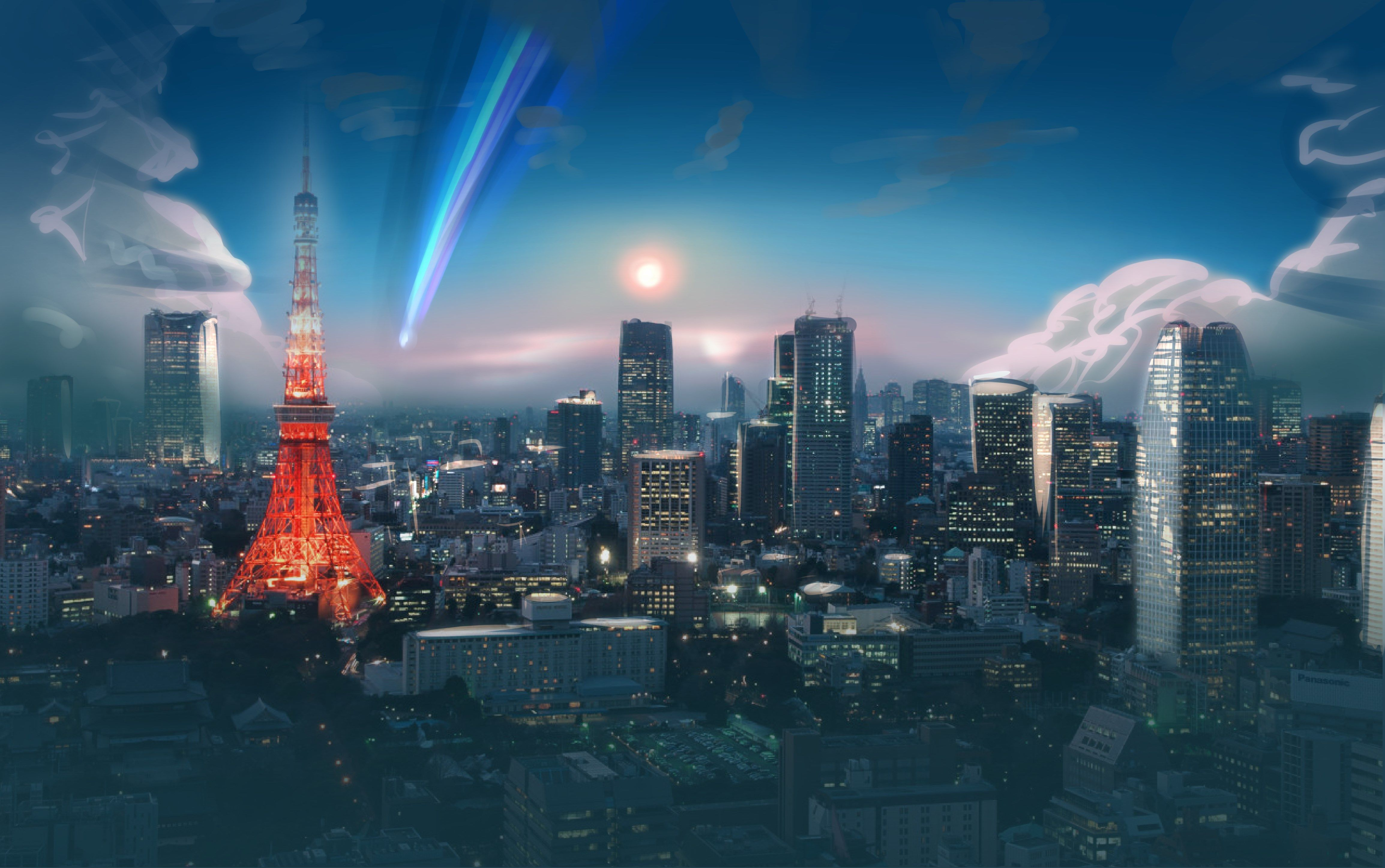 Anime 4k Wallpaper: Your Name Anime Landscape Wallpapers