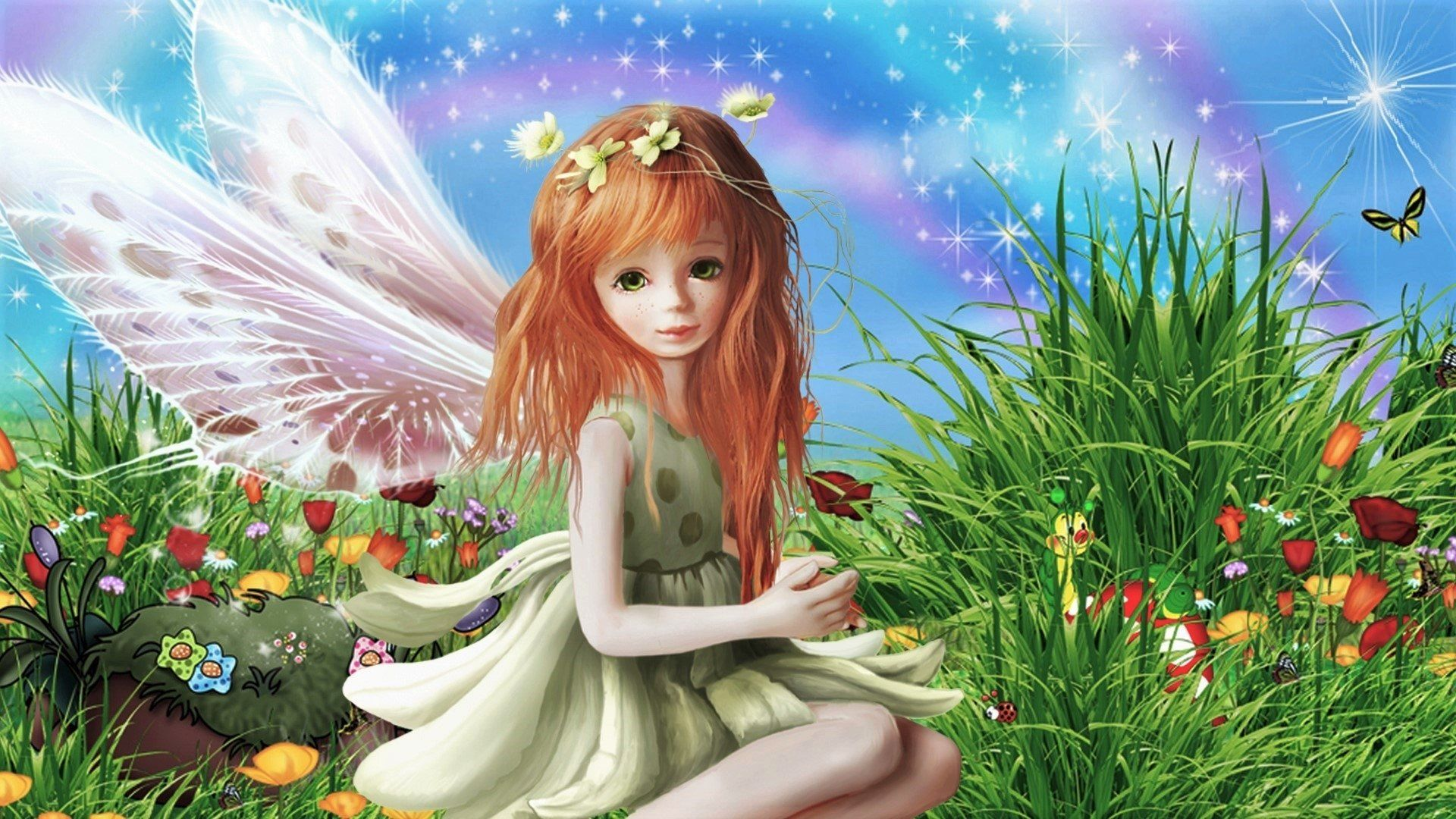 Little Fairy Wallpapers Top Free Little Fairy Backgrounds Wallpaperaccess