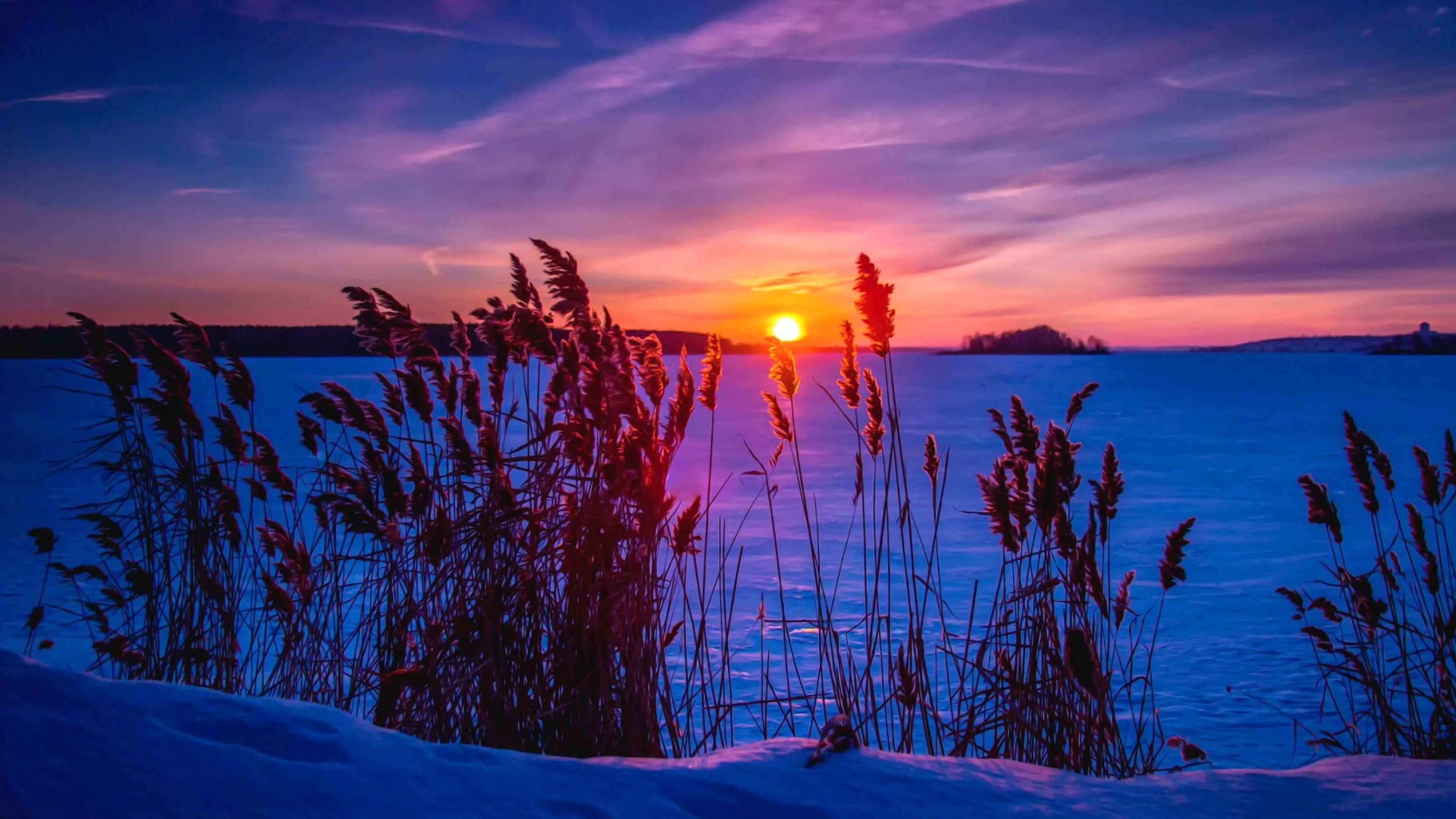 4k Winter Sunset Wallpapers Top Free 4k Winter Sunset Backgrounds Wallpaperaccess