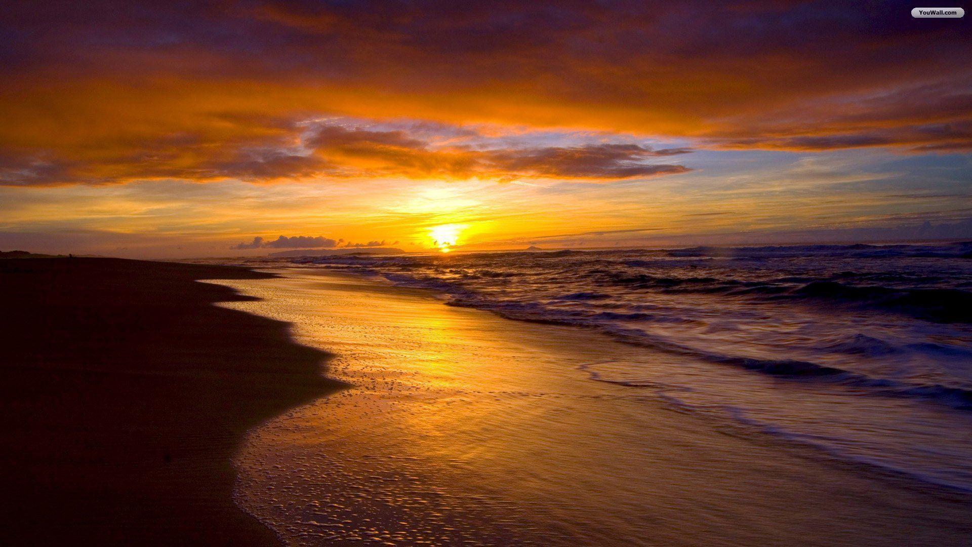 Beach Sunset Desktop Wallpapers Top