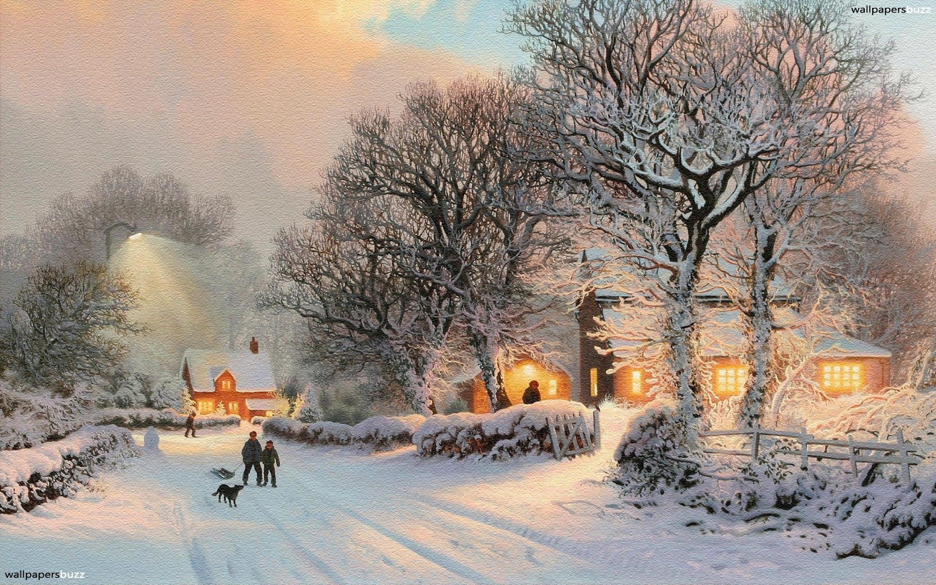 Cozy Winter Aesthetic Desktop Wallpaper