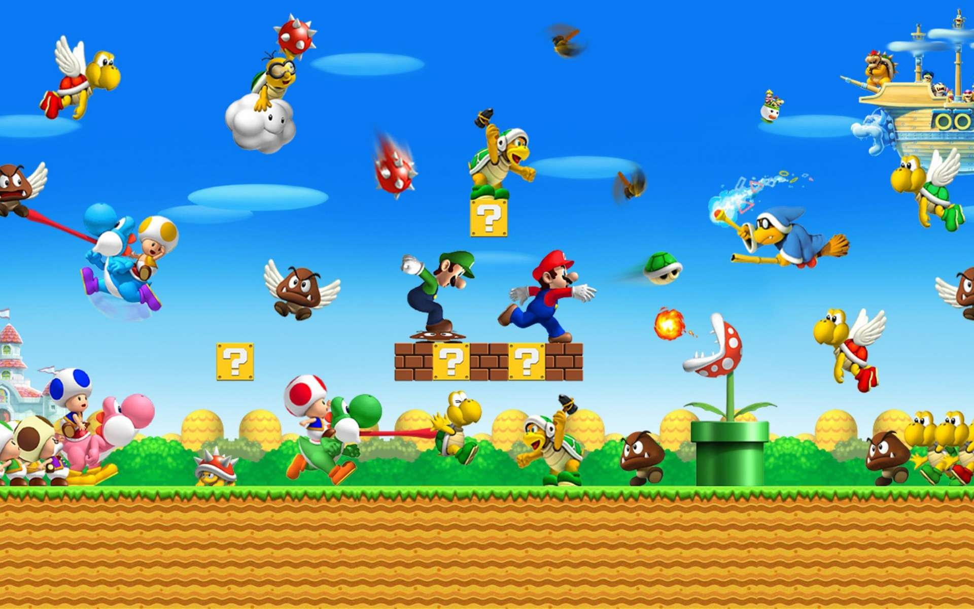 Mario Pc Wallpapers Top Free Mario Pc Backgrounds Wallpaperaccess