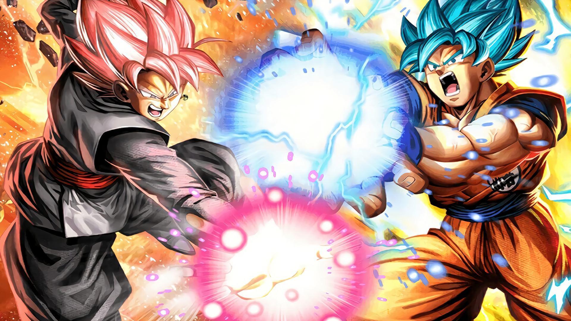 1360x768 Black Goku Wallpaper