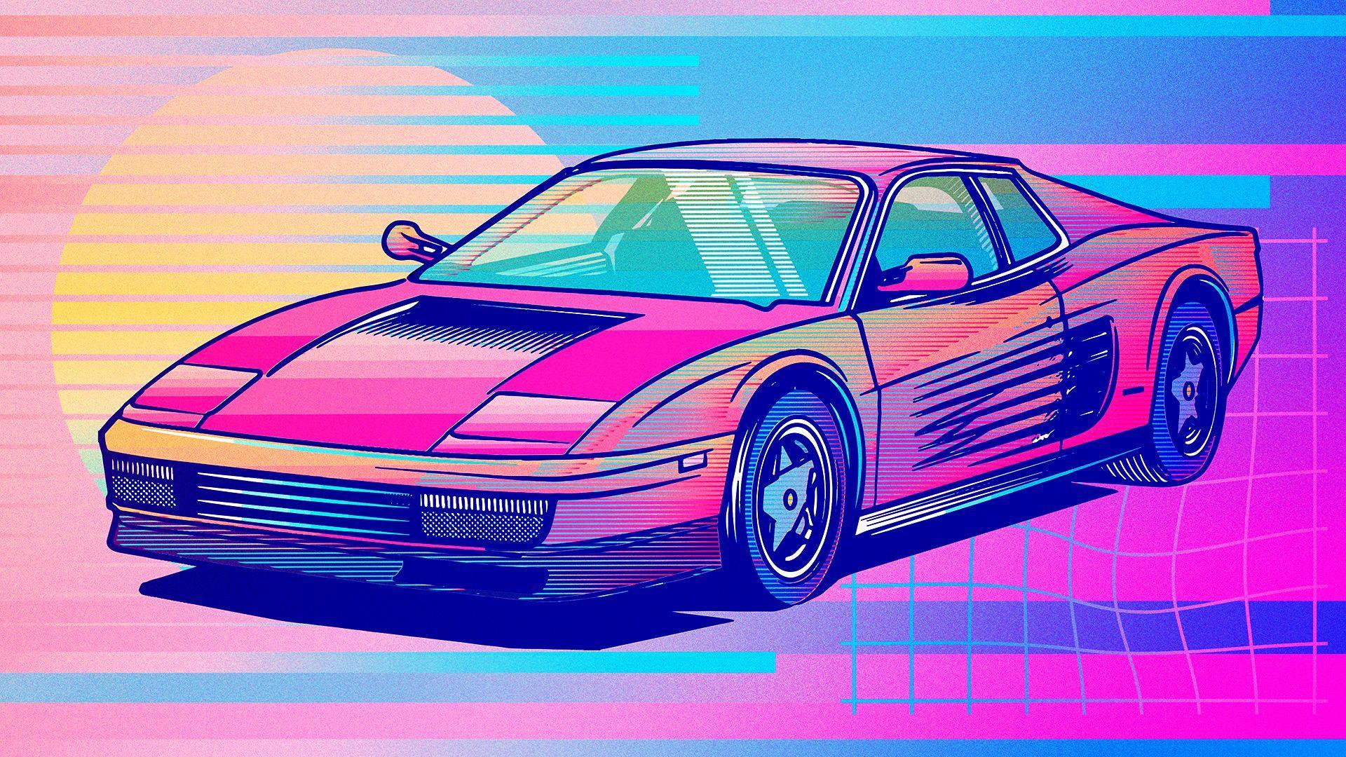 Vaporwave Car Desktop Wallpapers Top Free Vaporwave Car Desktop Backgrounds Wallpaperaccess