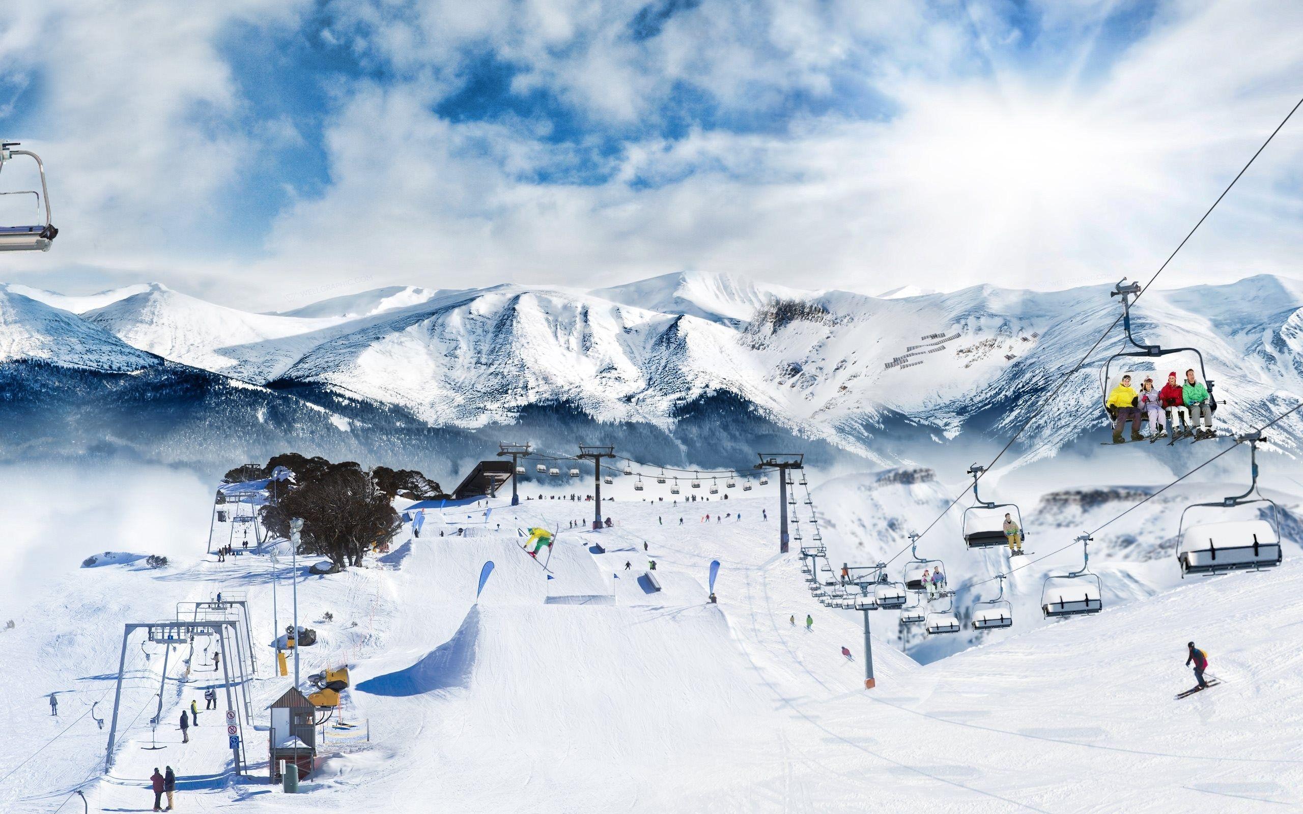 Ski mountain wallpapers top free ski mountain - Ski wallpaper ...