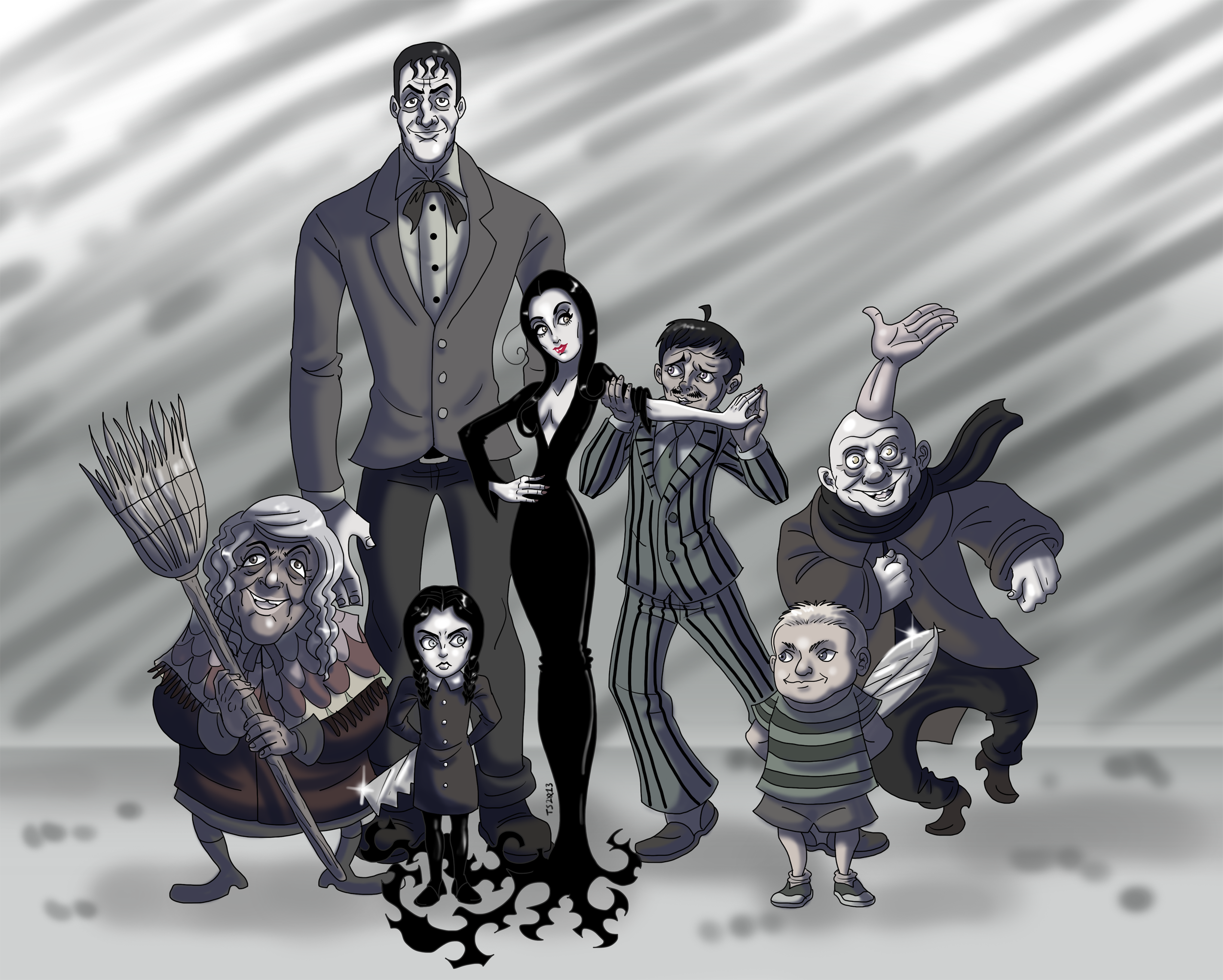 The Addams Family Wallpapers Top Free The Addams Family Backgrounds Wallpaperaccess