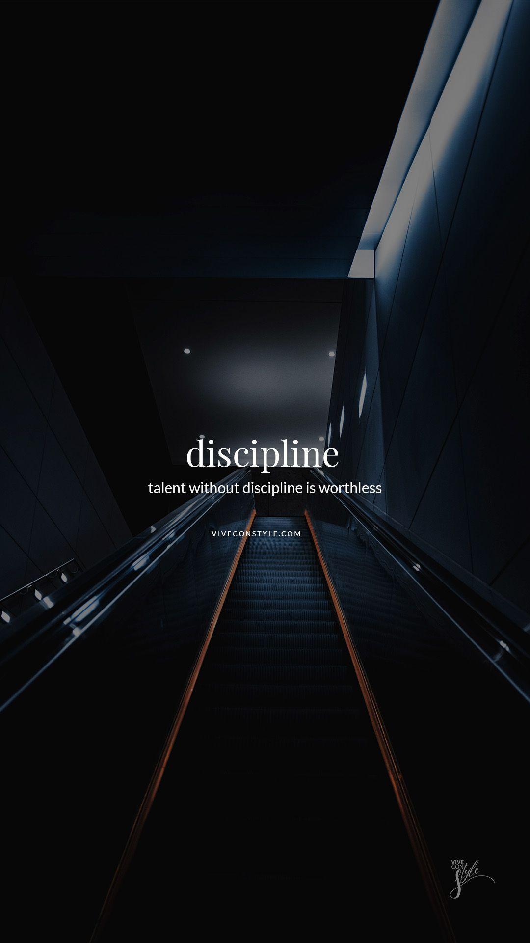 1080x1920 Discipline Quote Hình nền điện thoại di động.  Trích dẫn đầy cảm hứng