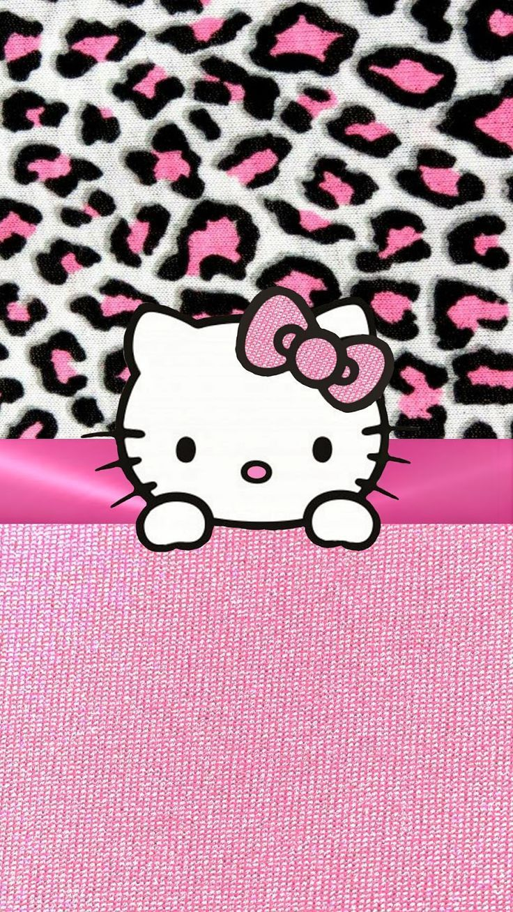 Hello Kitty Leopard Iphone Wallpapers Top Free Hello Kitty Leopard Iphone Backgrounds Wallpaperaccess