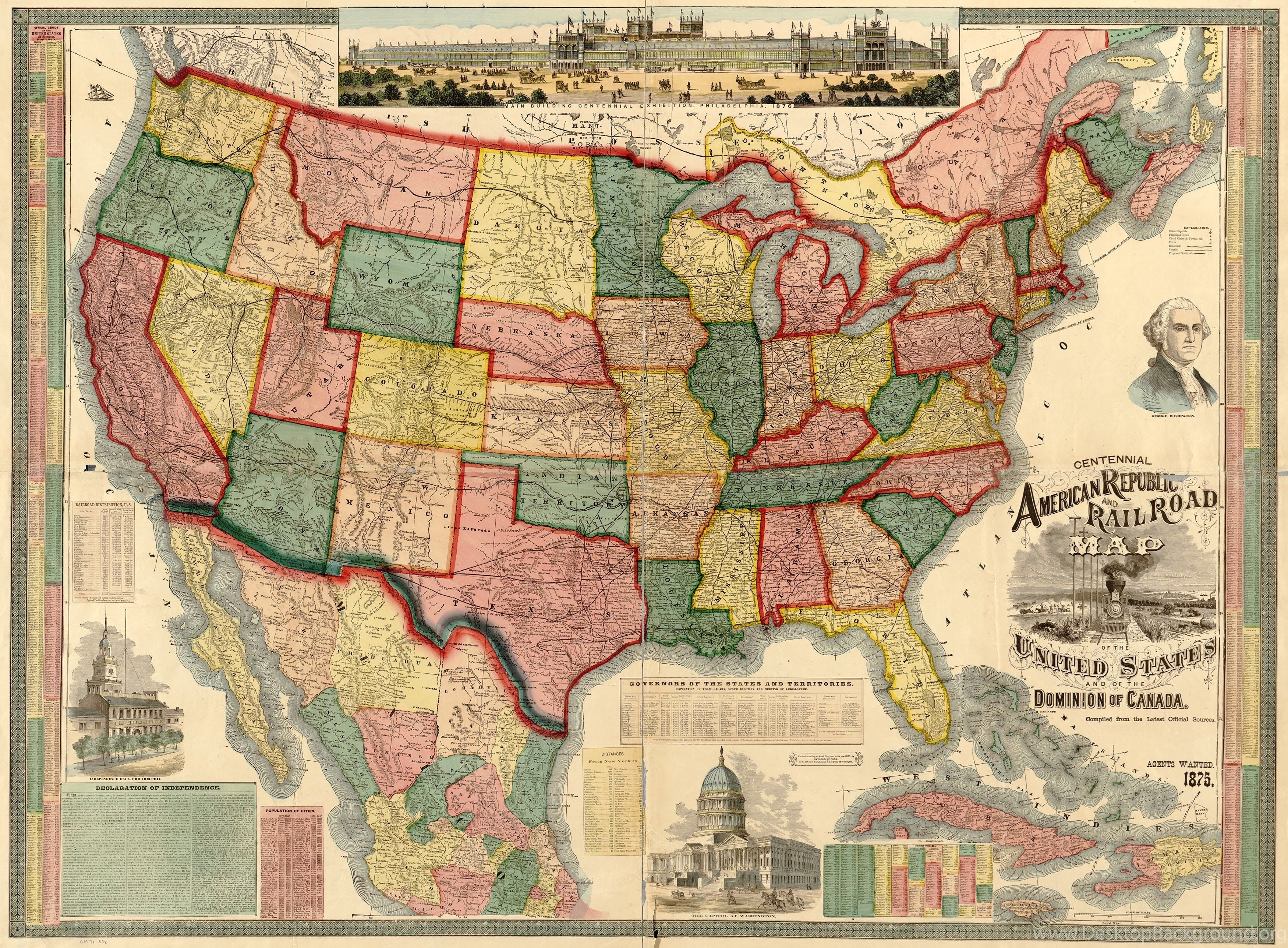 USA Map Wallpapers - Top Free USA Map Backgrounds ...