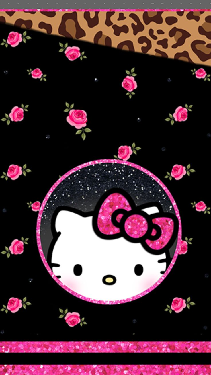 Hello Kitty Leopard Iphone Wallpapers Top Free Hello Kitty Leopard