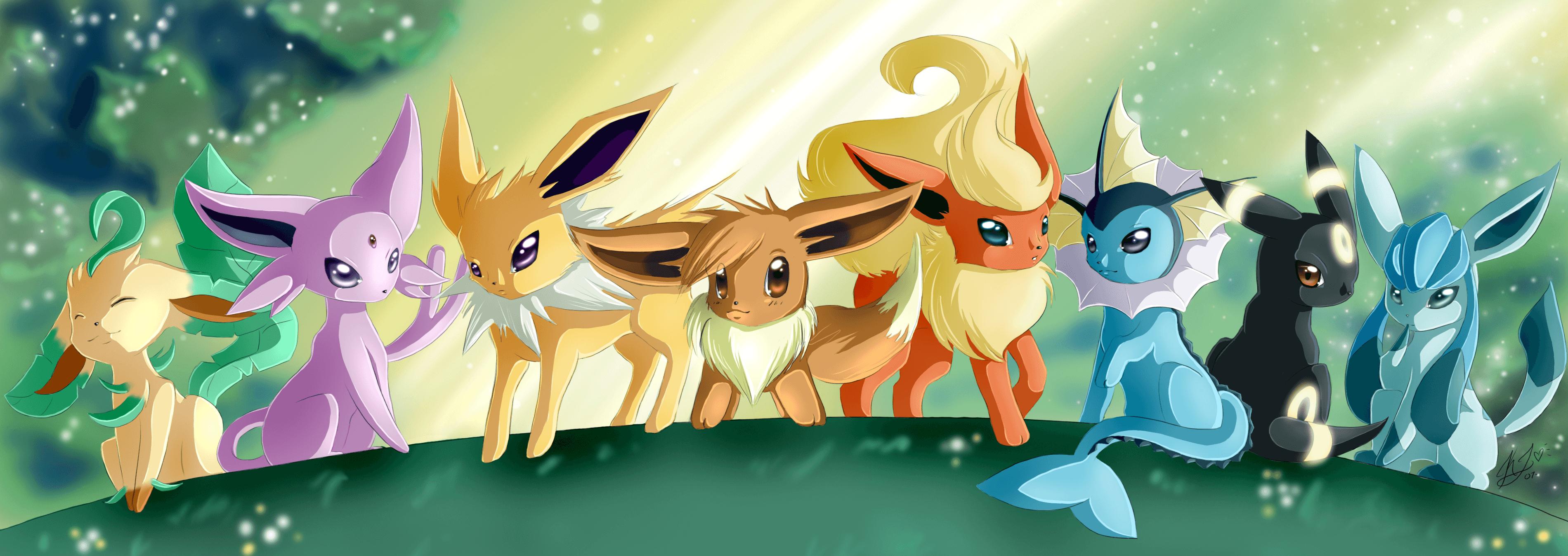 Pokemon Eevee Wallpapers Top Free Pokemon Eevee Backgrounds Wallpaperaccess